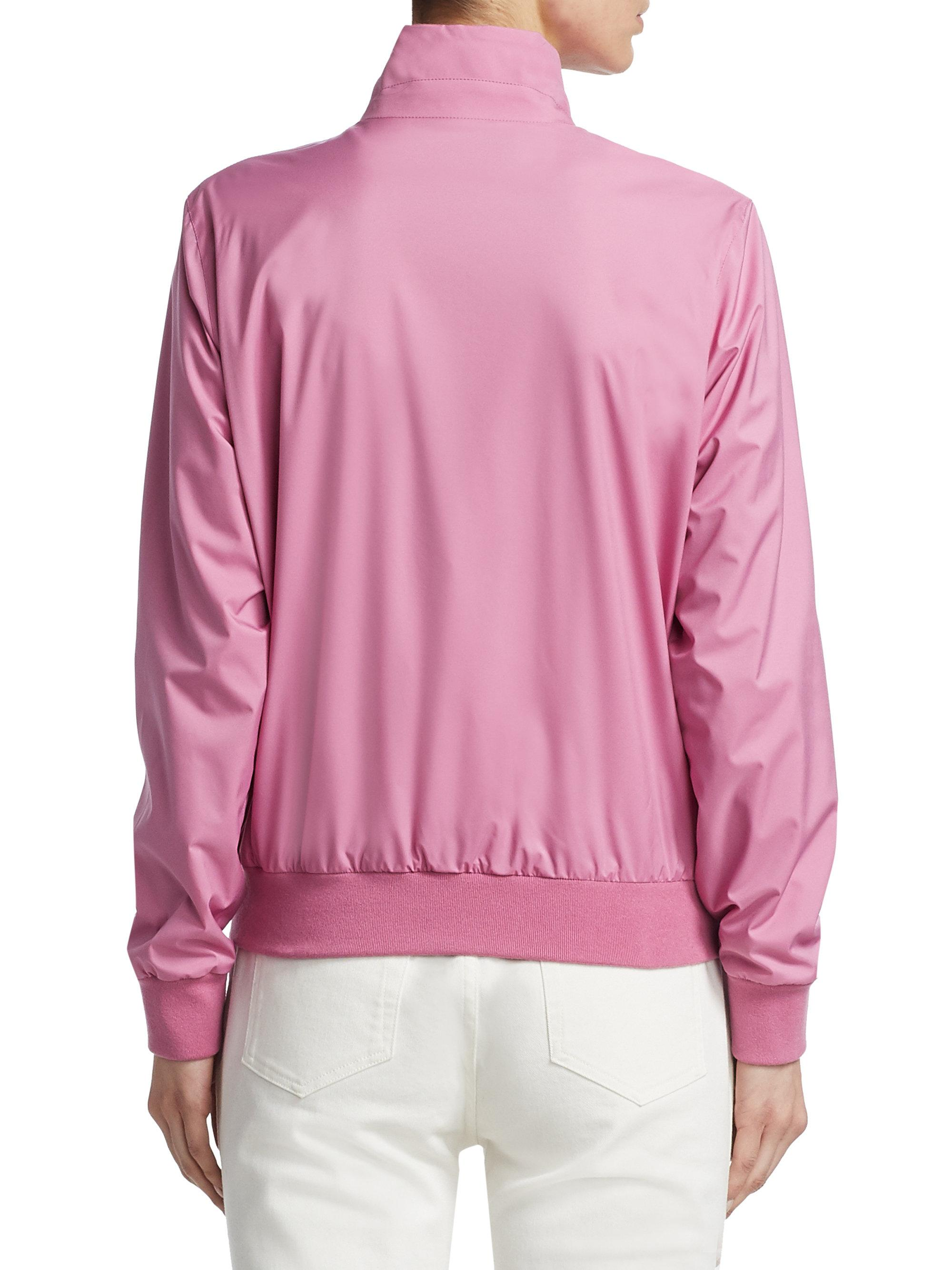 Pink Loro Bomber Stretch In Jacket Piana Lyst Storm wCrYfqrx
