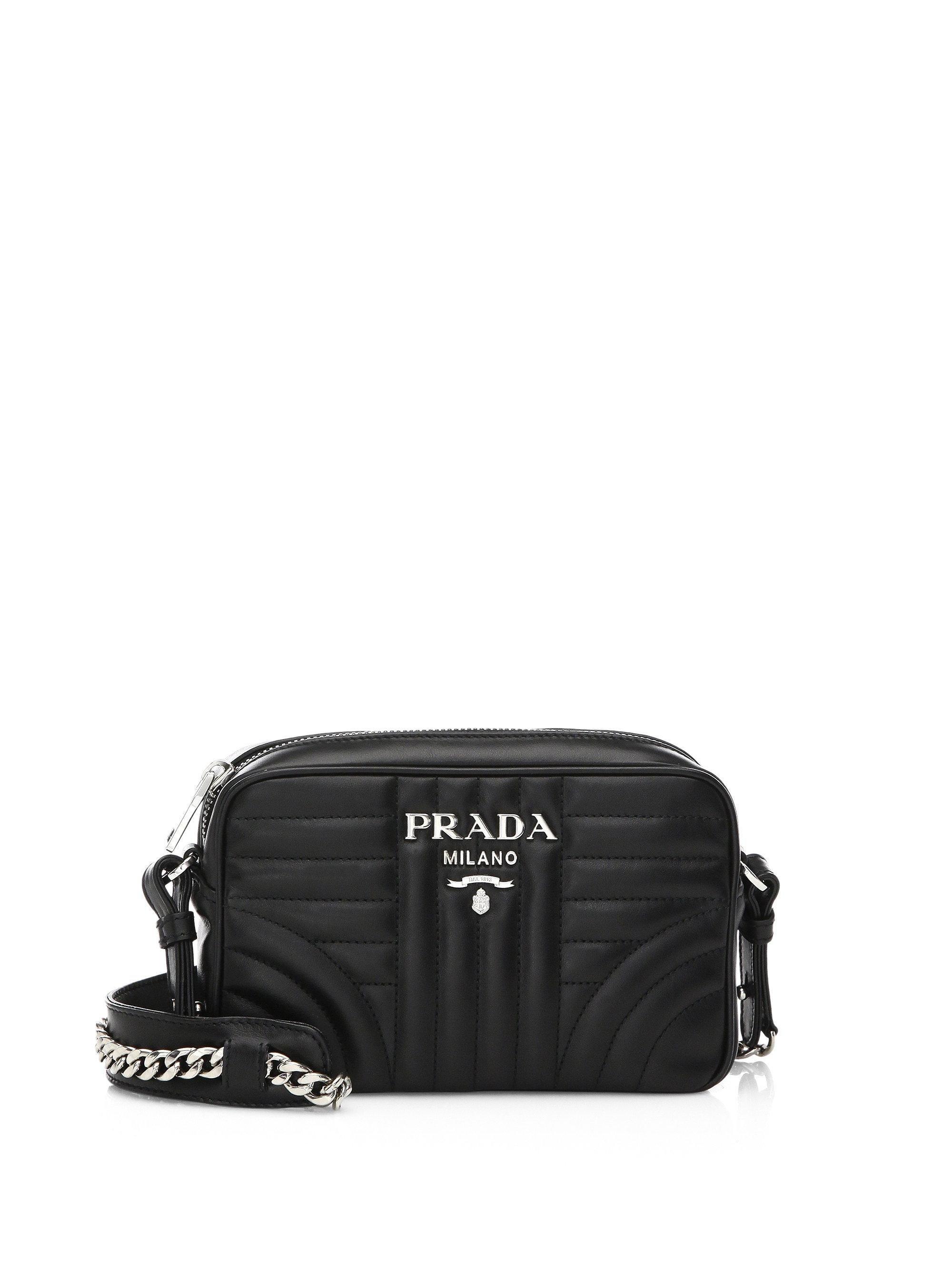 logo quilted shoulder bag - Black Prada FuOhmOMXP
