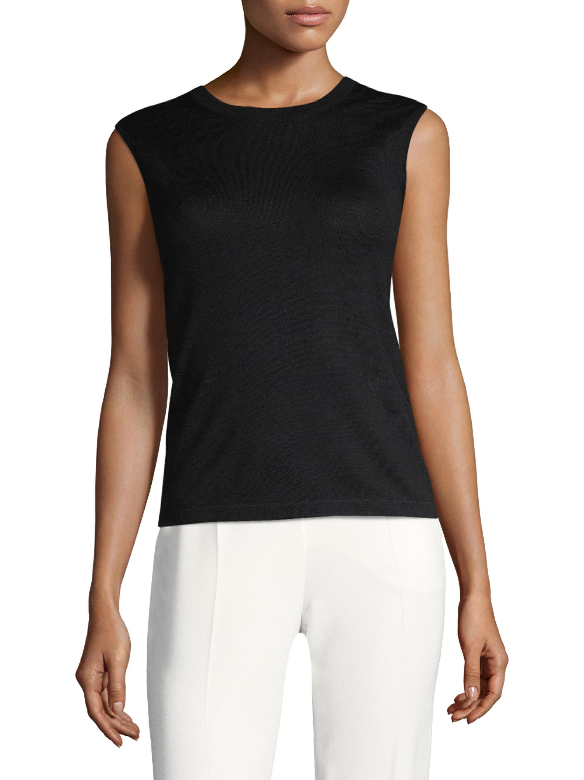View Sale Online Discount Looking For Escada Sleeveless Wool-Blend Top New jwyzFPna