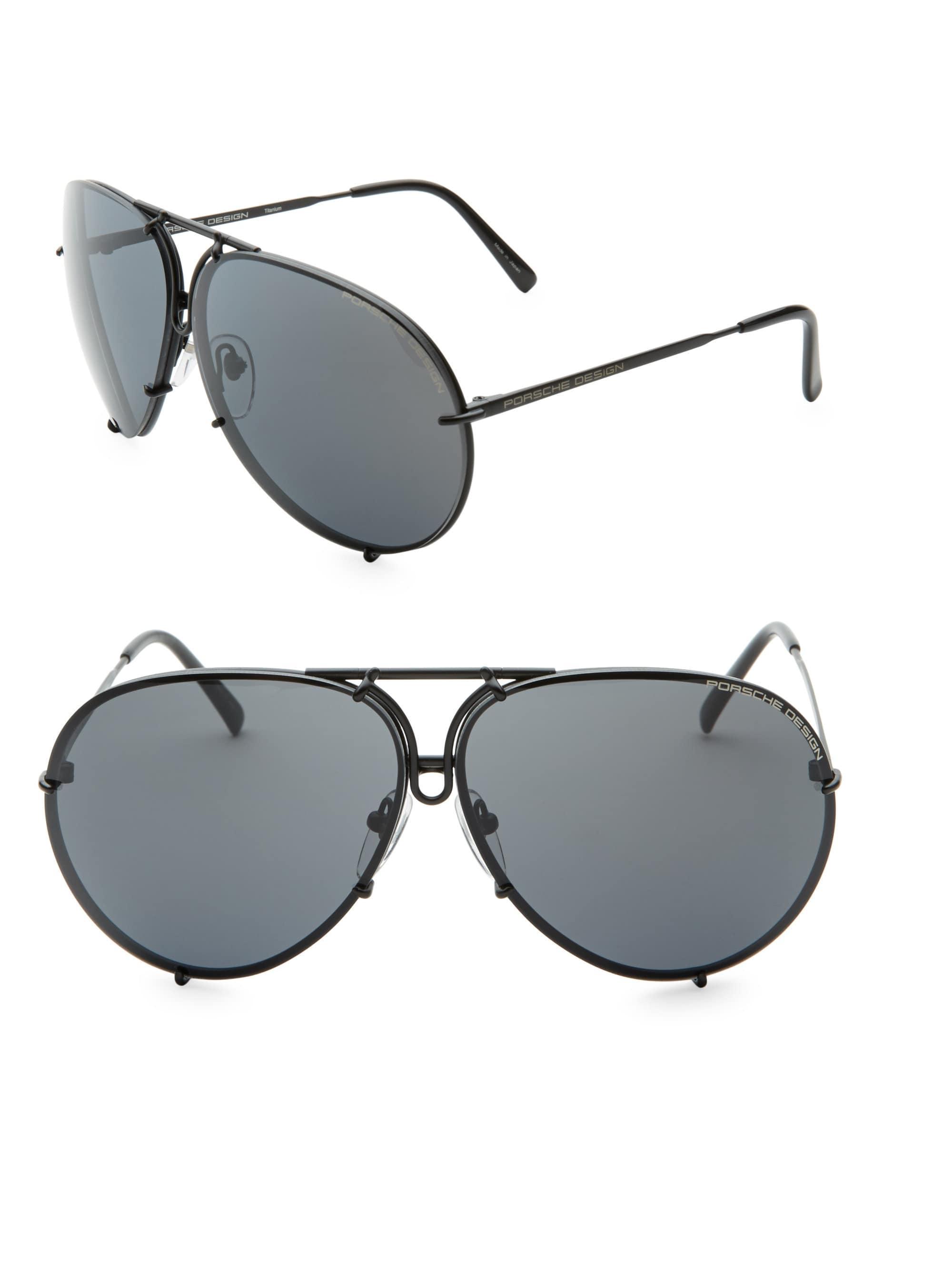 eda92dce400 ... Black P847 Aviator Tinted Sunglasses for Men - Lyst. View fullscreen
