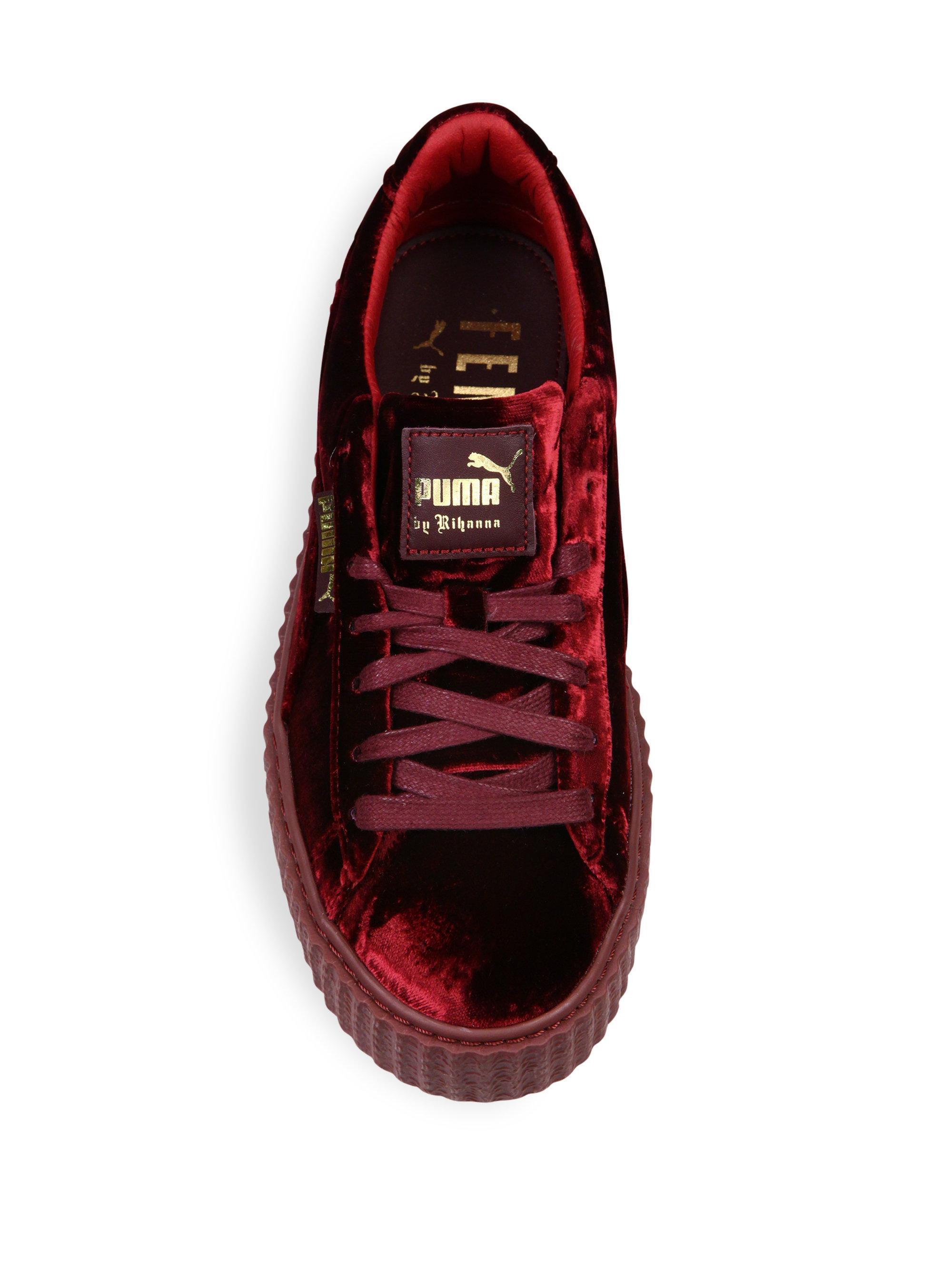 best sneakers 12e88 9ea56 PUMA Fenty Velvet Sneakers in Purple - Lyst