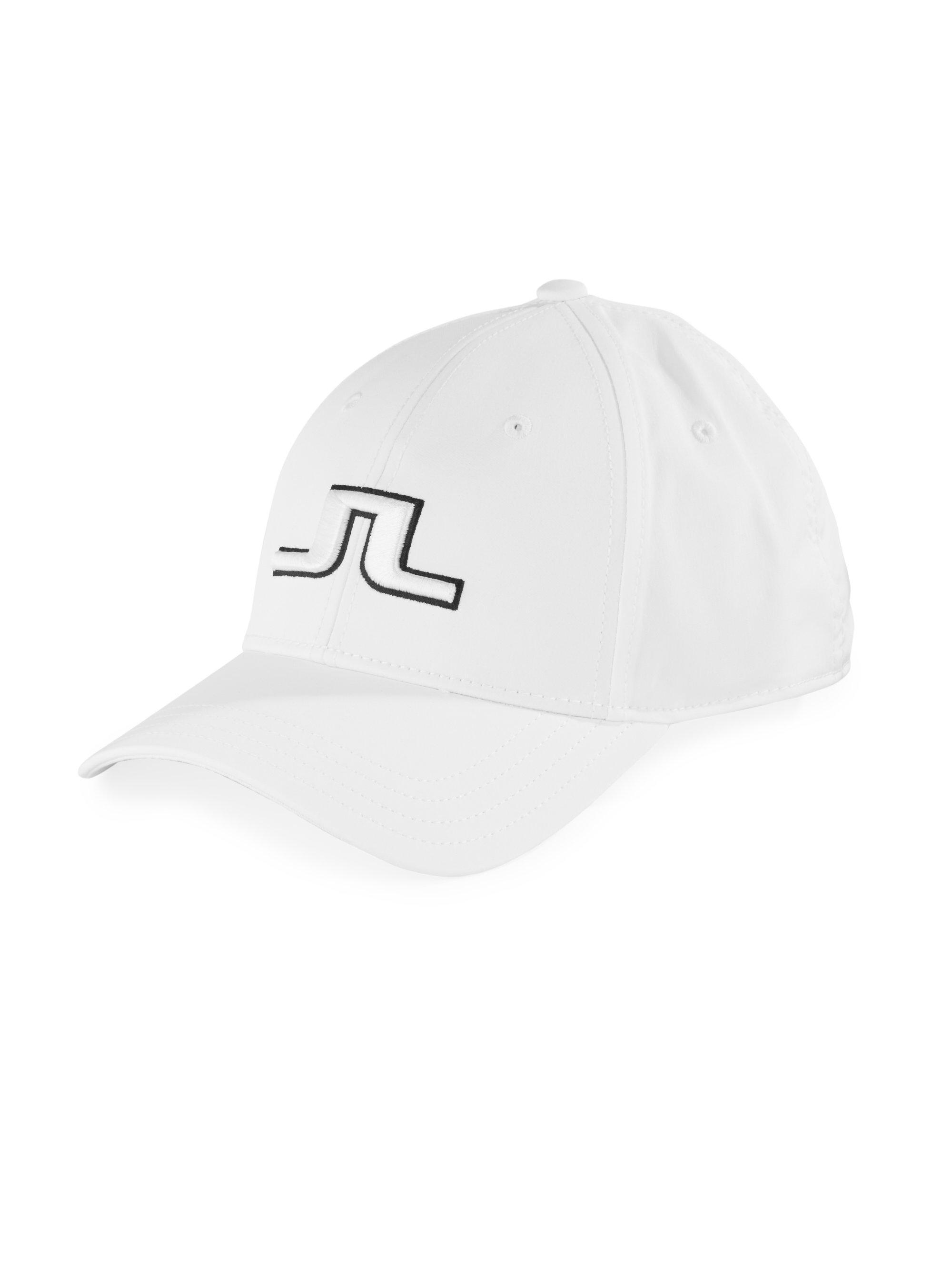fd9de5bf4c7 J.Lindeberg Signature Logo Five Panel Cap in White for Men - Lyst