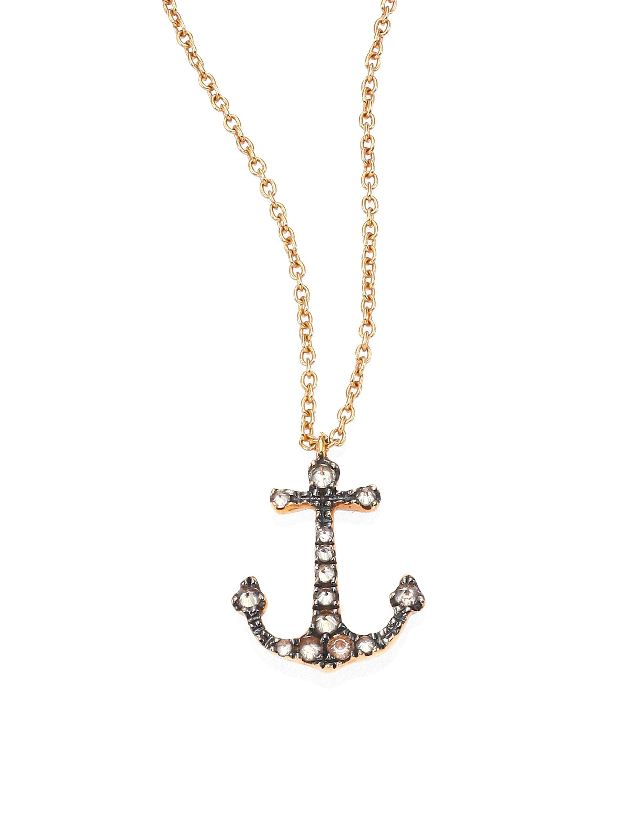 rebel anchor pendant products rock petite necklace chain