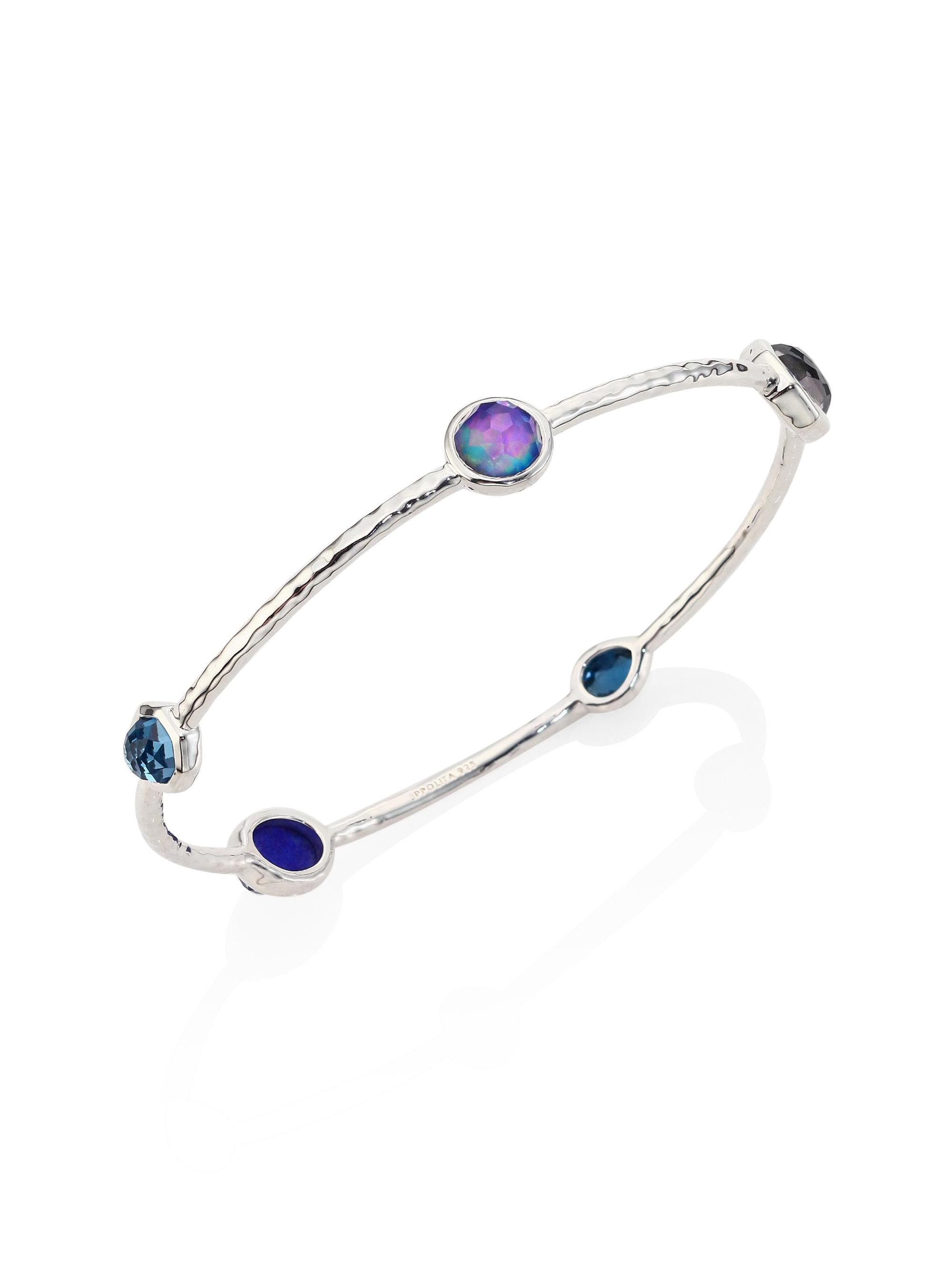 Ippolita Rock Candy Mixed-Stone Bangle, Light Blue