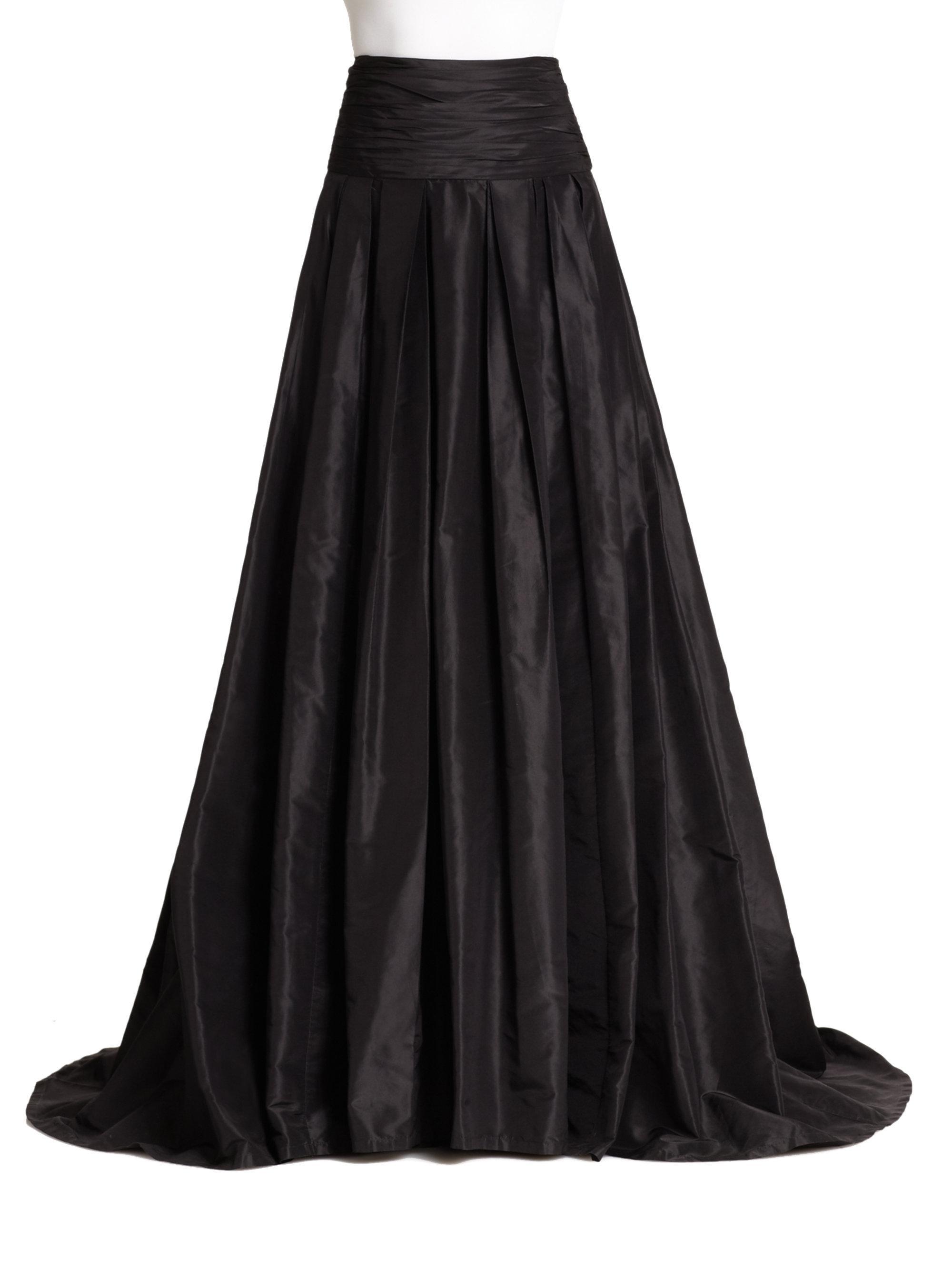 Carolina Herrera Icon Collection Silk Cummerbund Ball Gown Skirt in ...
