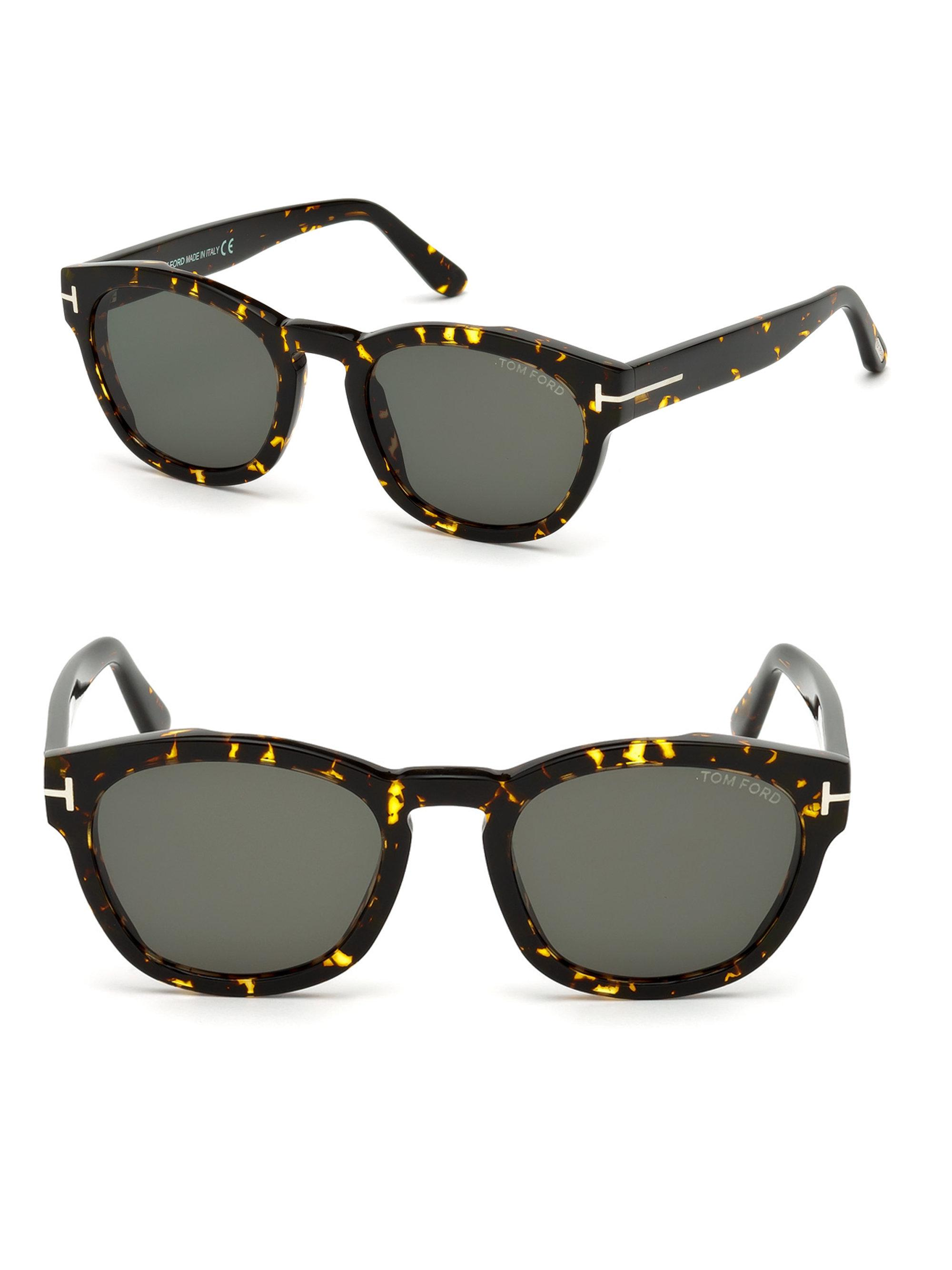 899d6b21636 Tom Ford 51mm Bryan Round Tortoise Shell Sunglasses in Brown for Men ...