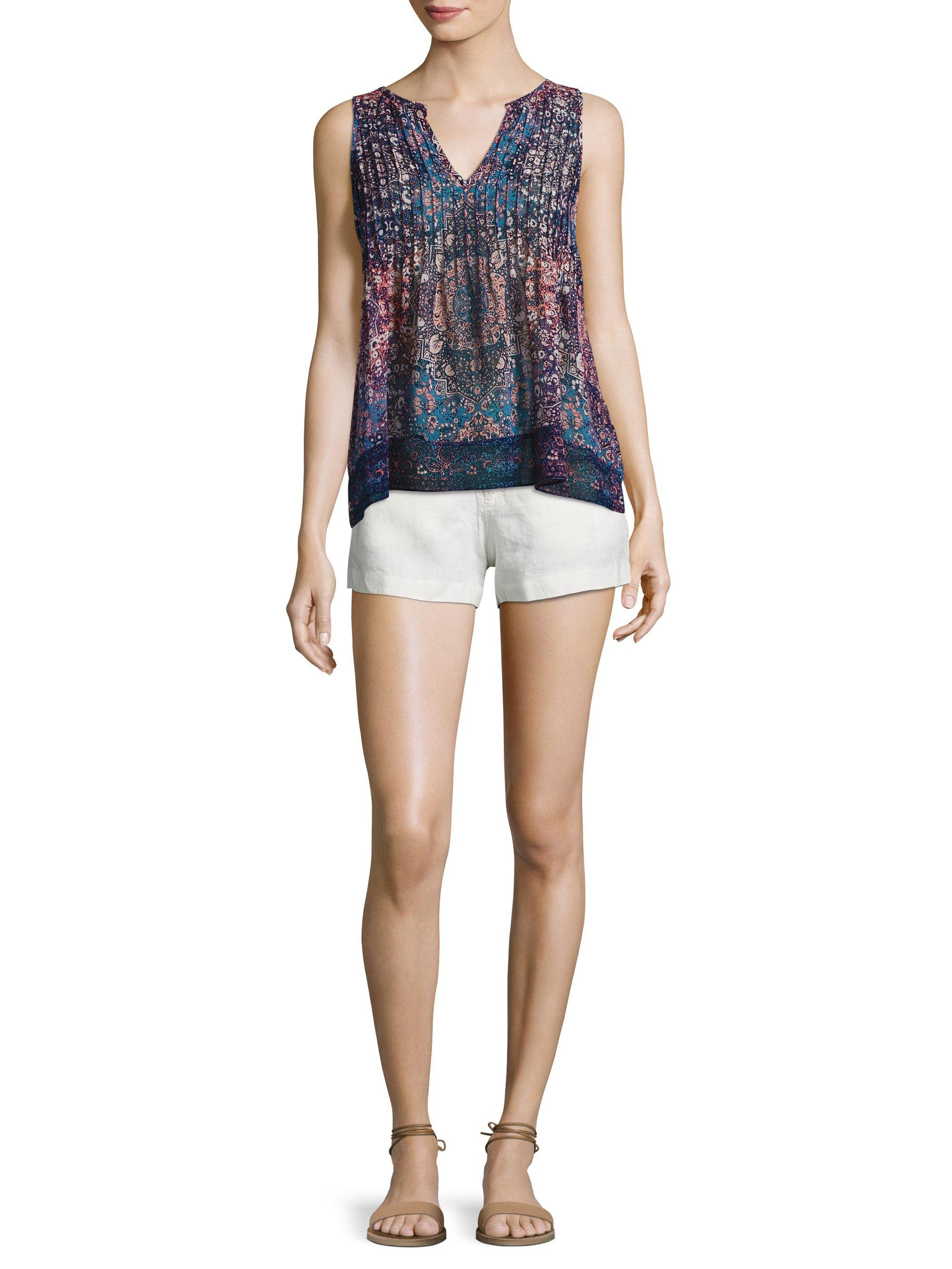 d148bee288c1a Lyst - Joie Axton Printed Silk Blouse in Blue