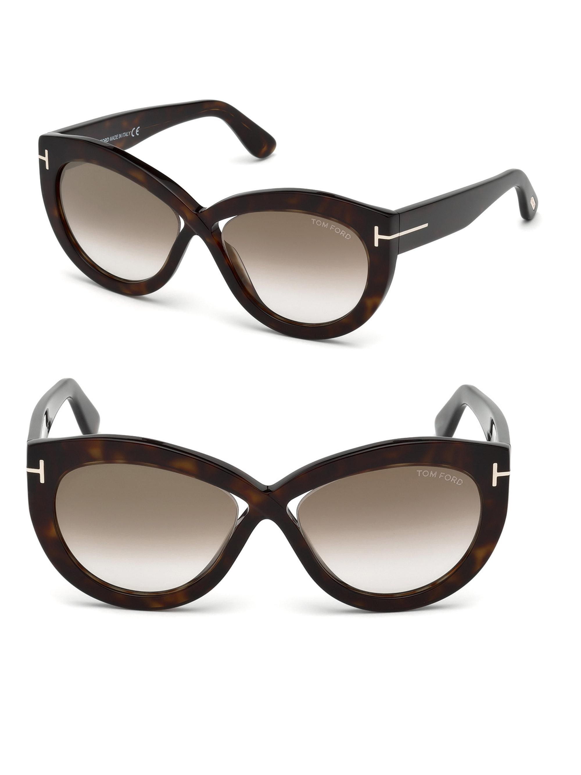 Gafas 56mm Sol Diane Lyst Brown Tom De Cross Ford Delanteras Eye Cat 0vw8mNOn
