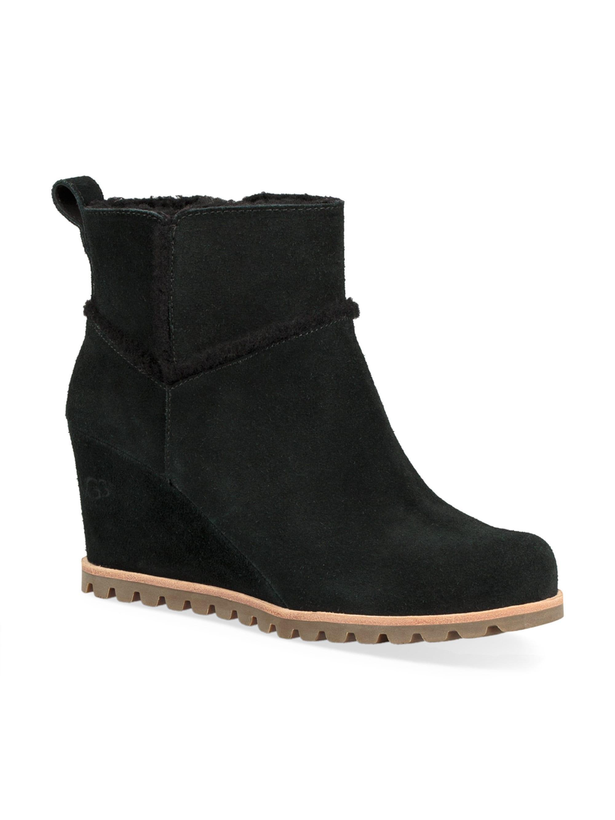b883fe460bb Lyst - UGG Women s Marte Suede Wedge Boots - Chestnut - Size 12 in Black