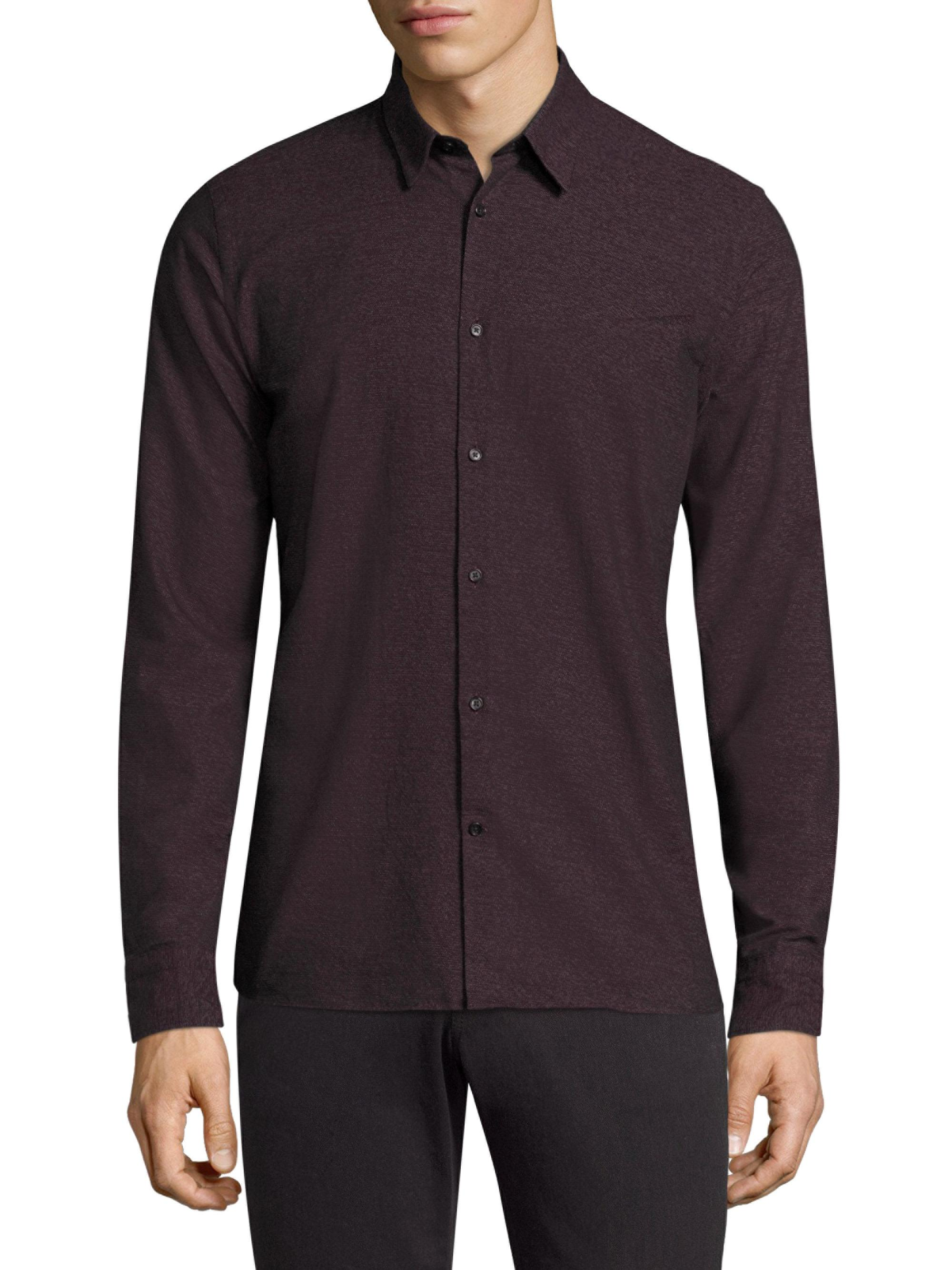 Lyst daniel slim fit button down cotton for Athletic fit button down shirts
