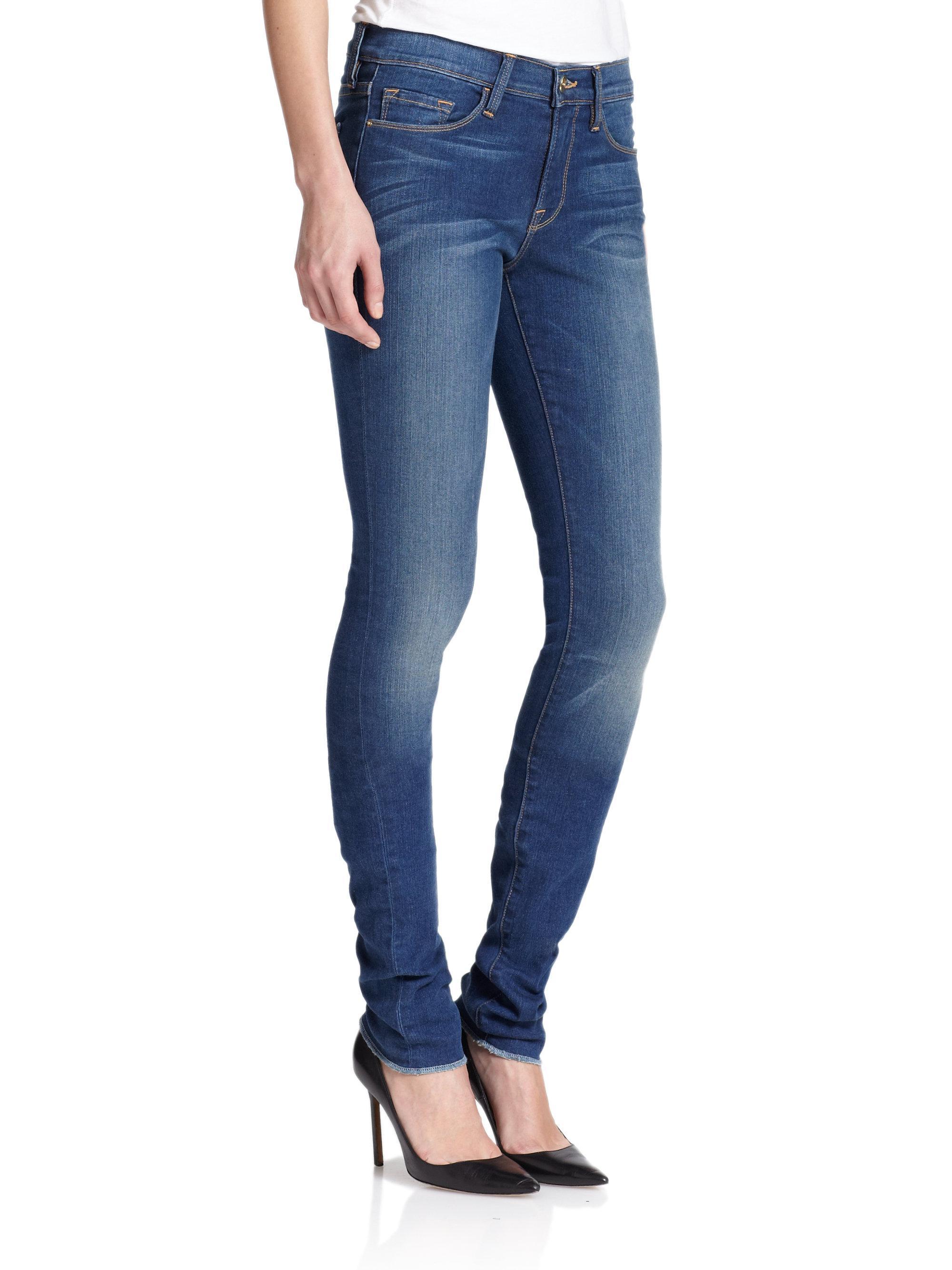 Lyst - Frame Le Skinny Forever Karlie Supermodel Length Jeans in Blue