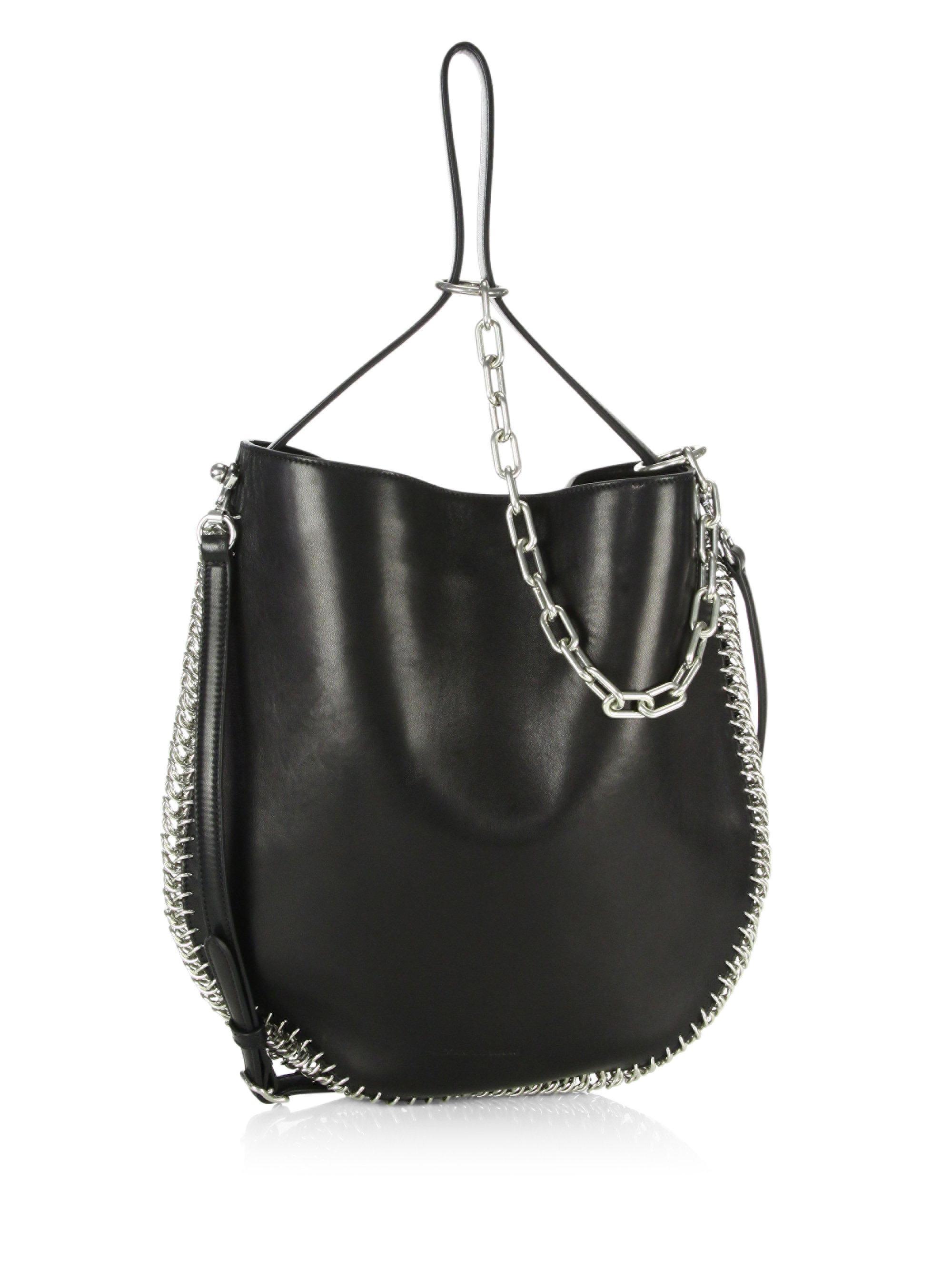 Lyst - Alexander Wang Roxy Hobo Bag in Black 439dbb51610fc