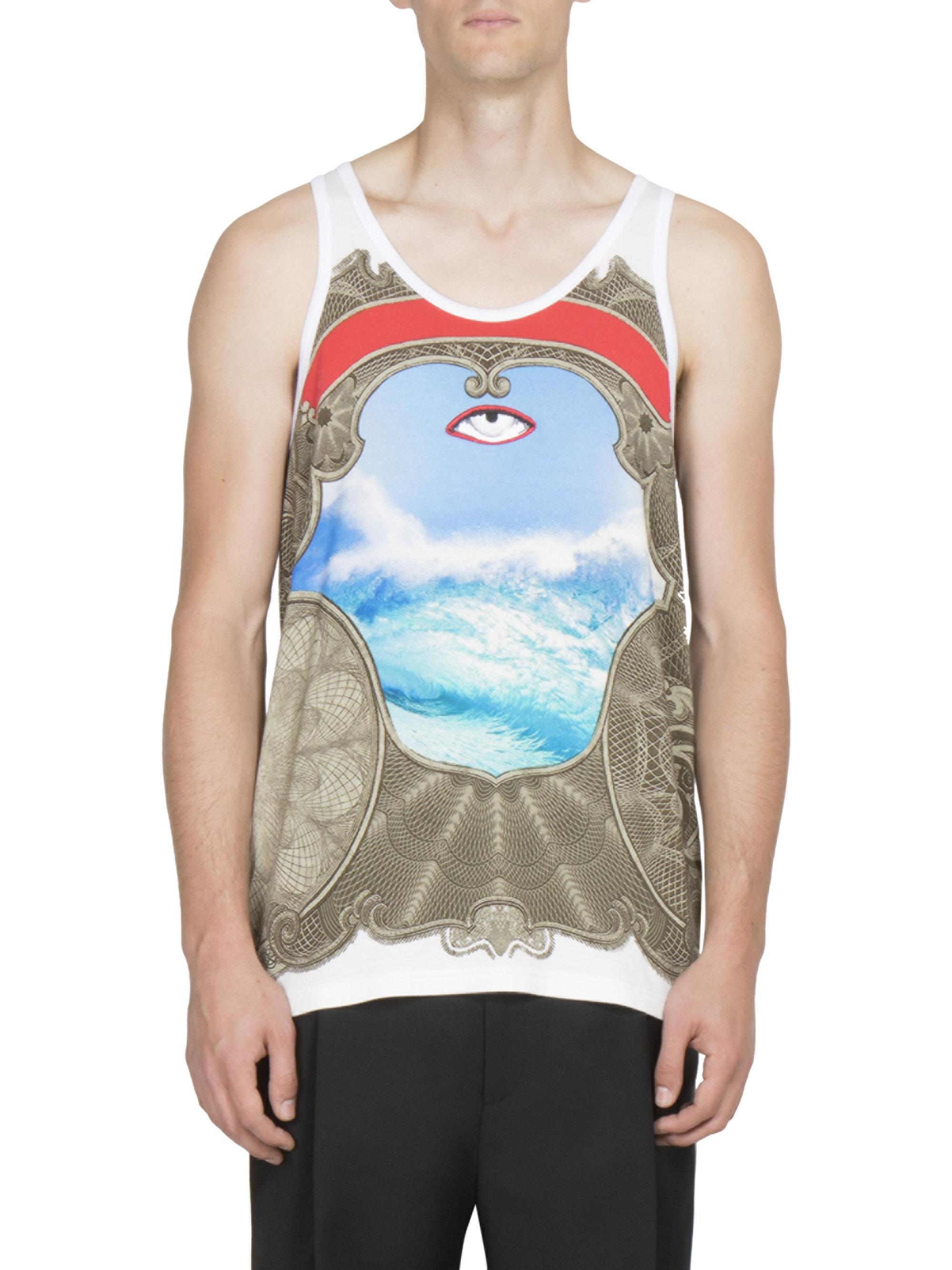34e533a6f8c5b Lyst - Givenchy Eye Printed Tank Top in White for Men