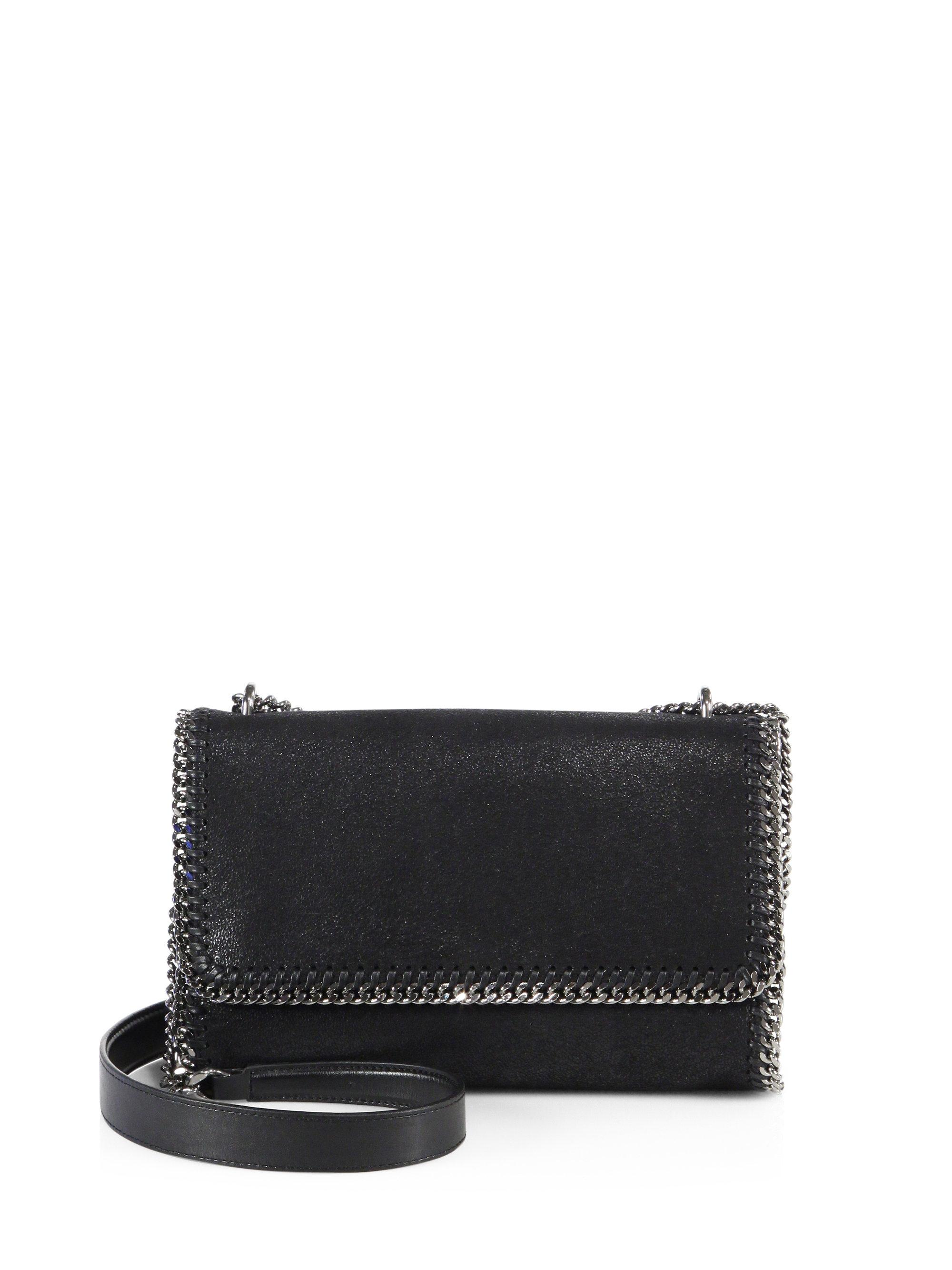 8be801965b2a Stella Mccartney Shaggy Deer Falabella Crossbody Bag in Black - Lyst