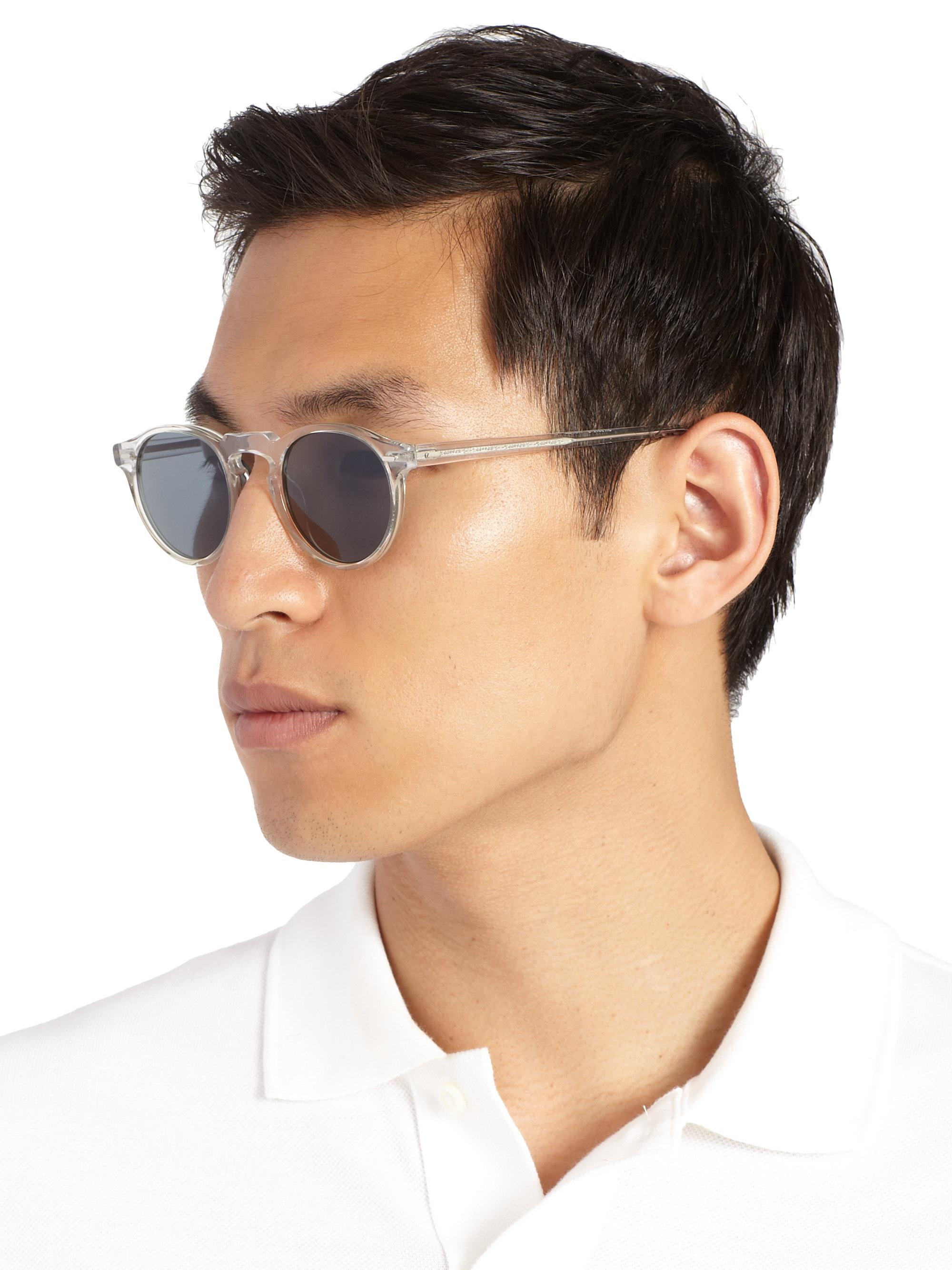 d4cf120adaa Oliver Peoples - Gray Men s Gregory Peck 47mm Acetate Sunglasses - Lucite  for Men - Lyst. View fullscreen