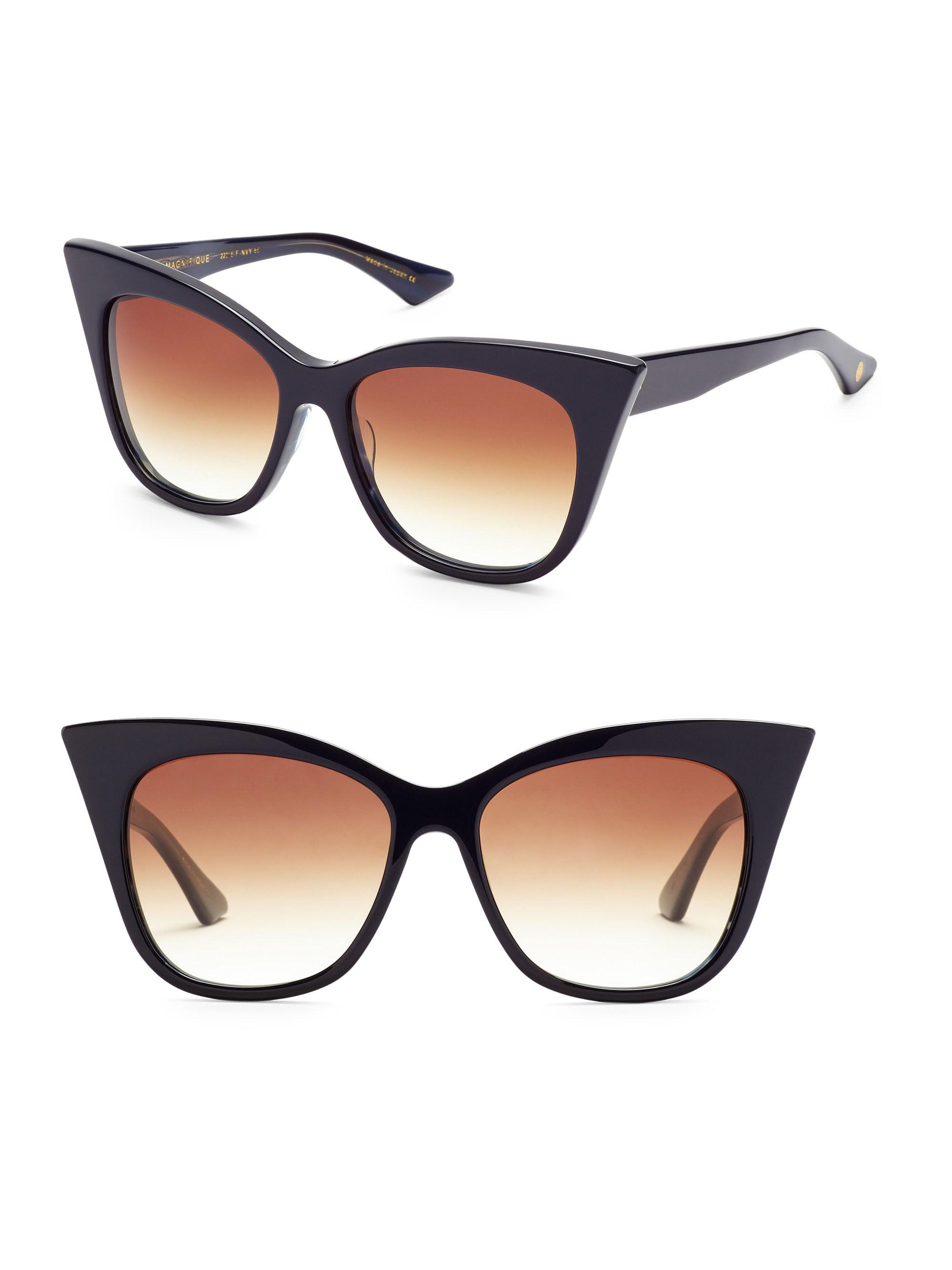 e8f98ce8faa Lyst - Dita Eyewear Magnifique 56mm Cat-eye Sunglasses in Blue