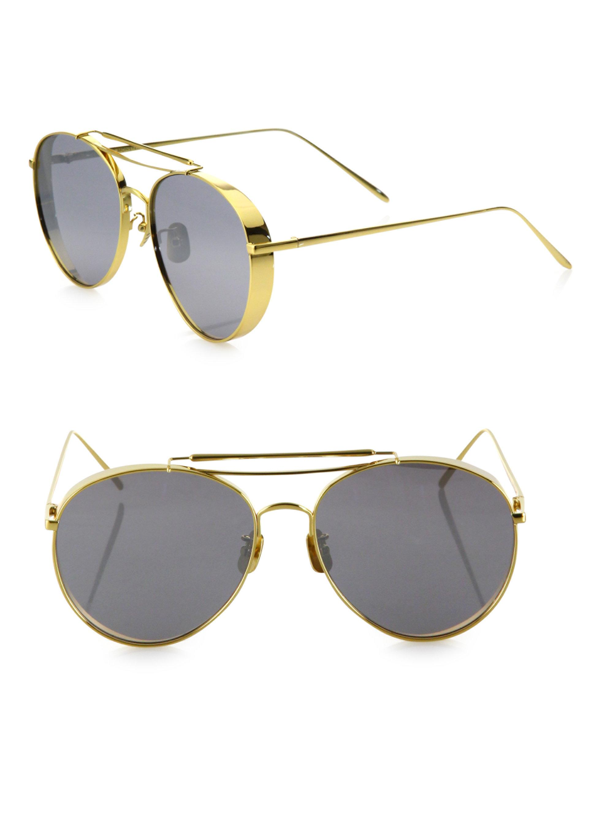 0d154f1c343b Lyst - Gentle Monster Big Bully 55mm Rounded Aviator Sunglasses in ...