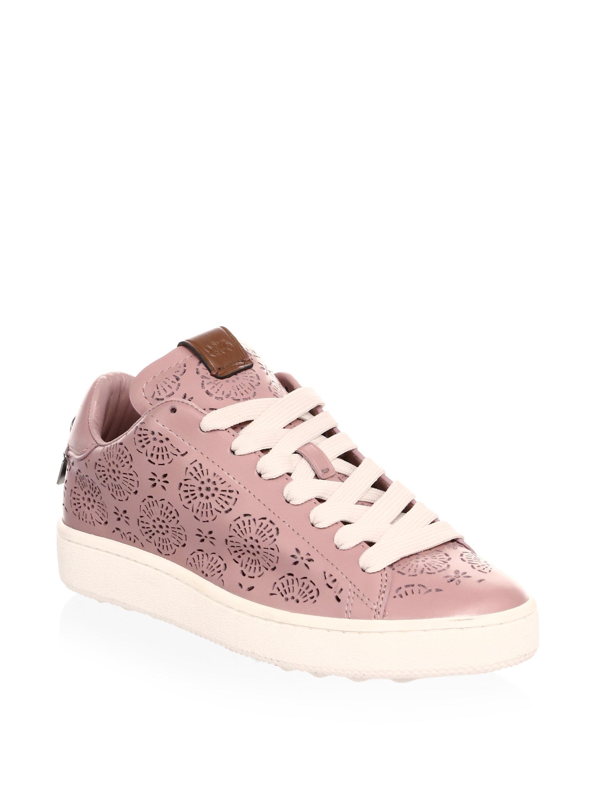 C101 cut-out sneakers - Pink & Purple Coach KyyMVxHf