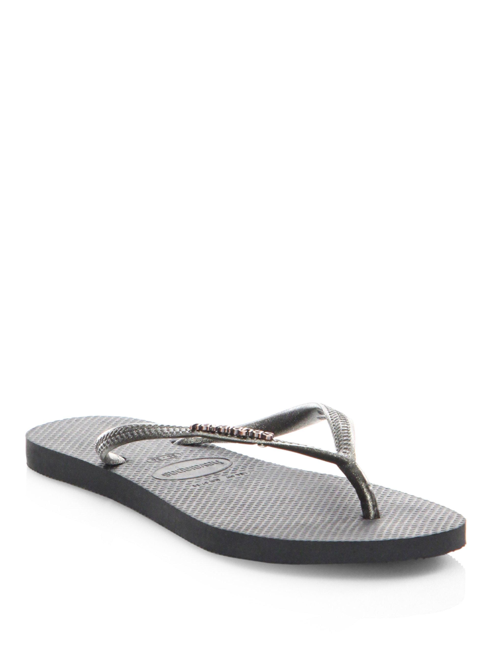 Havaianas Textured Rubber Thong Flip-Flops DzY4I6Ipq