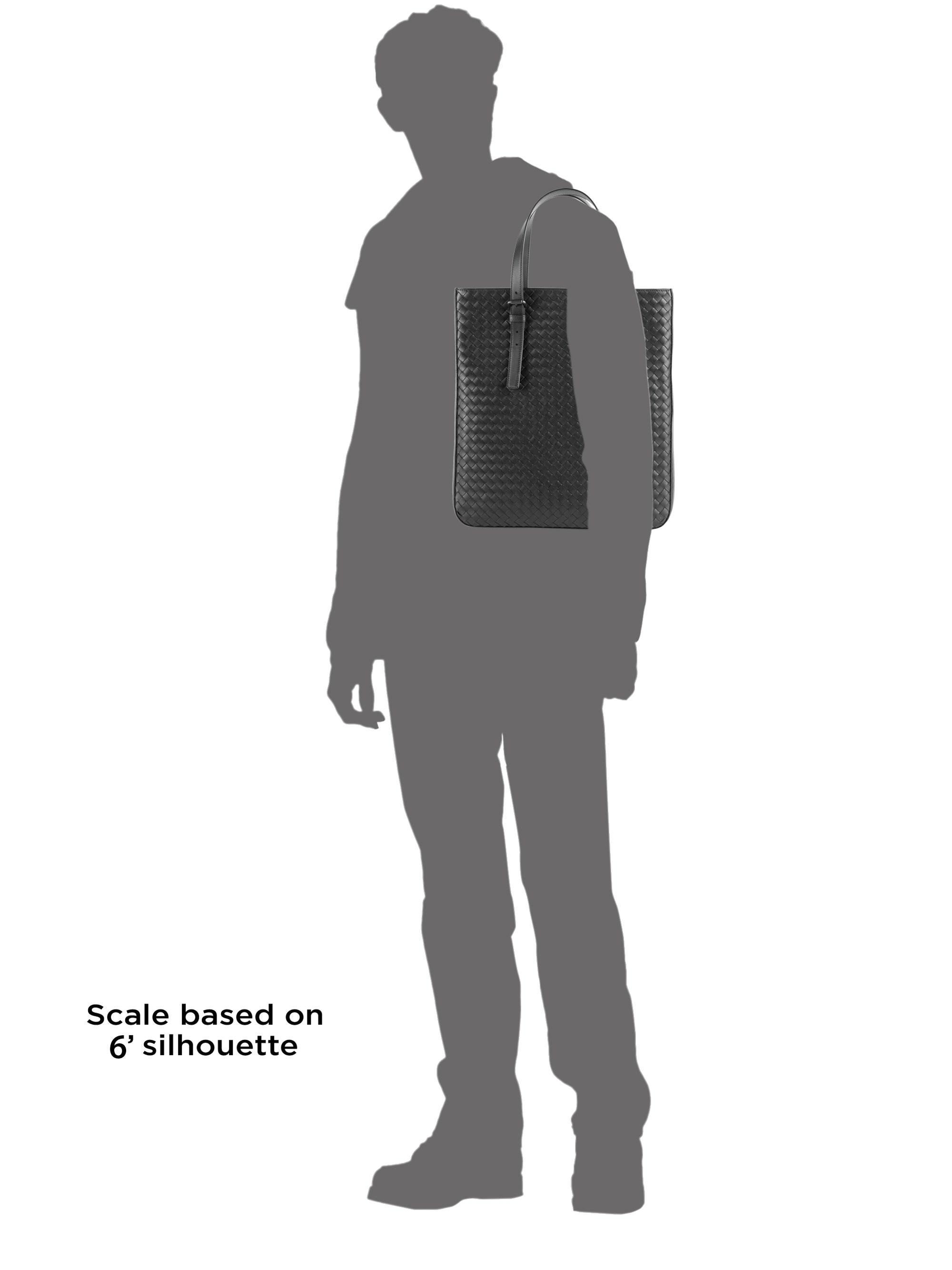 c688e30451a6 Bottega Veneta - Men s Woven Leather Slim Tote - Black for Men - Lyst. View  fullscreen
