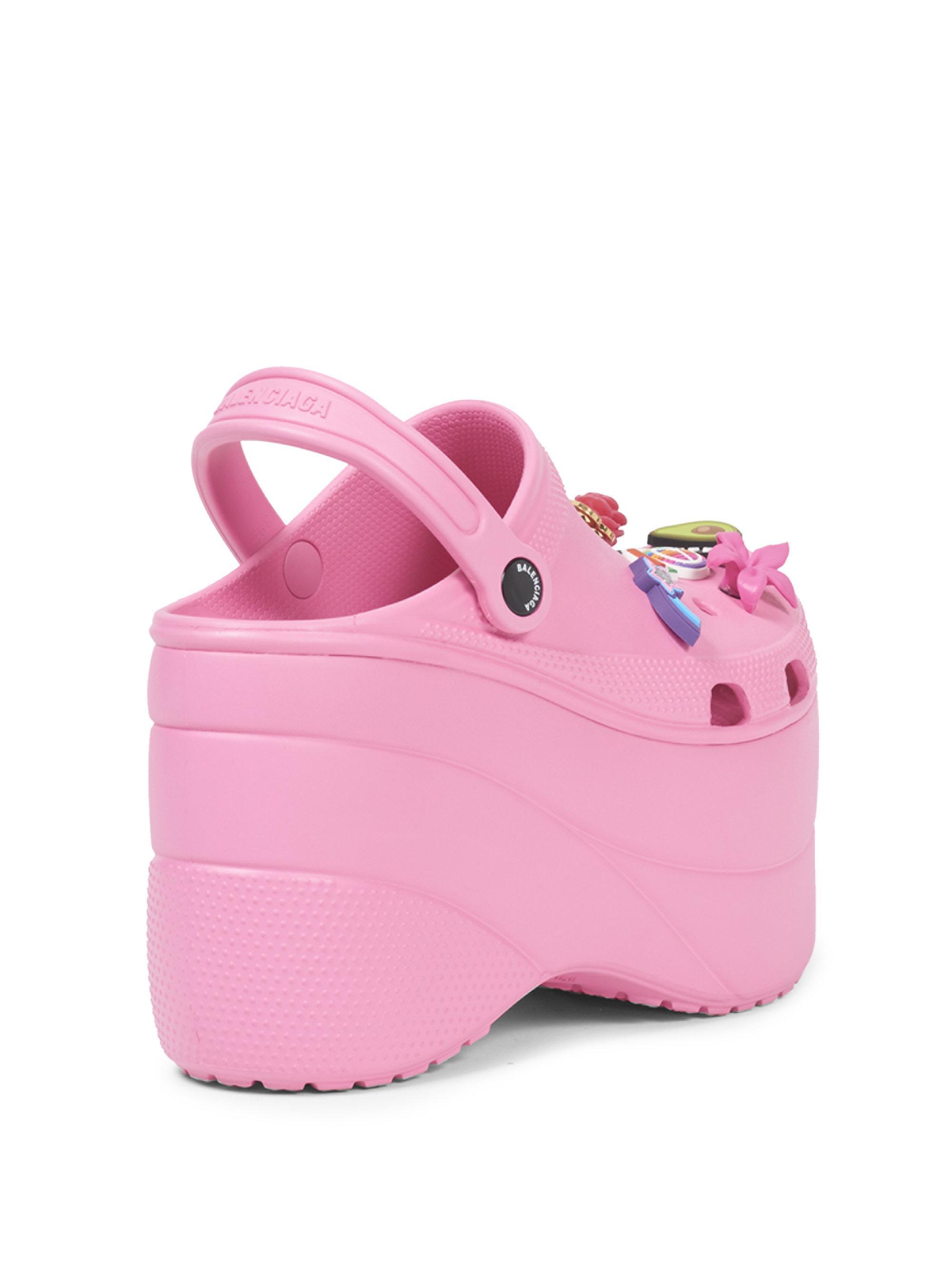 c803f30a3e5 Lyst - Balenciaga Women s Pink Foam Platforms With Charms - Size 37 ...