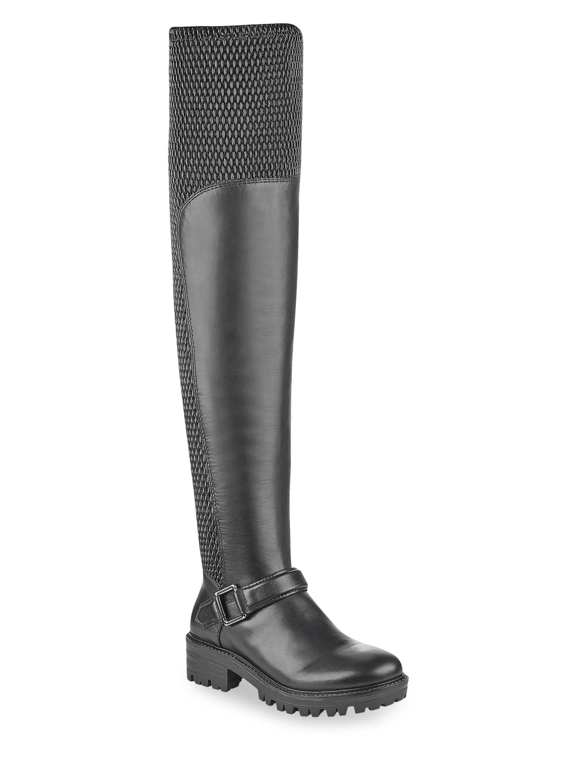Kendall + Kylie. Women's Black Textured Over-the-knee Boots
