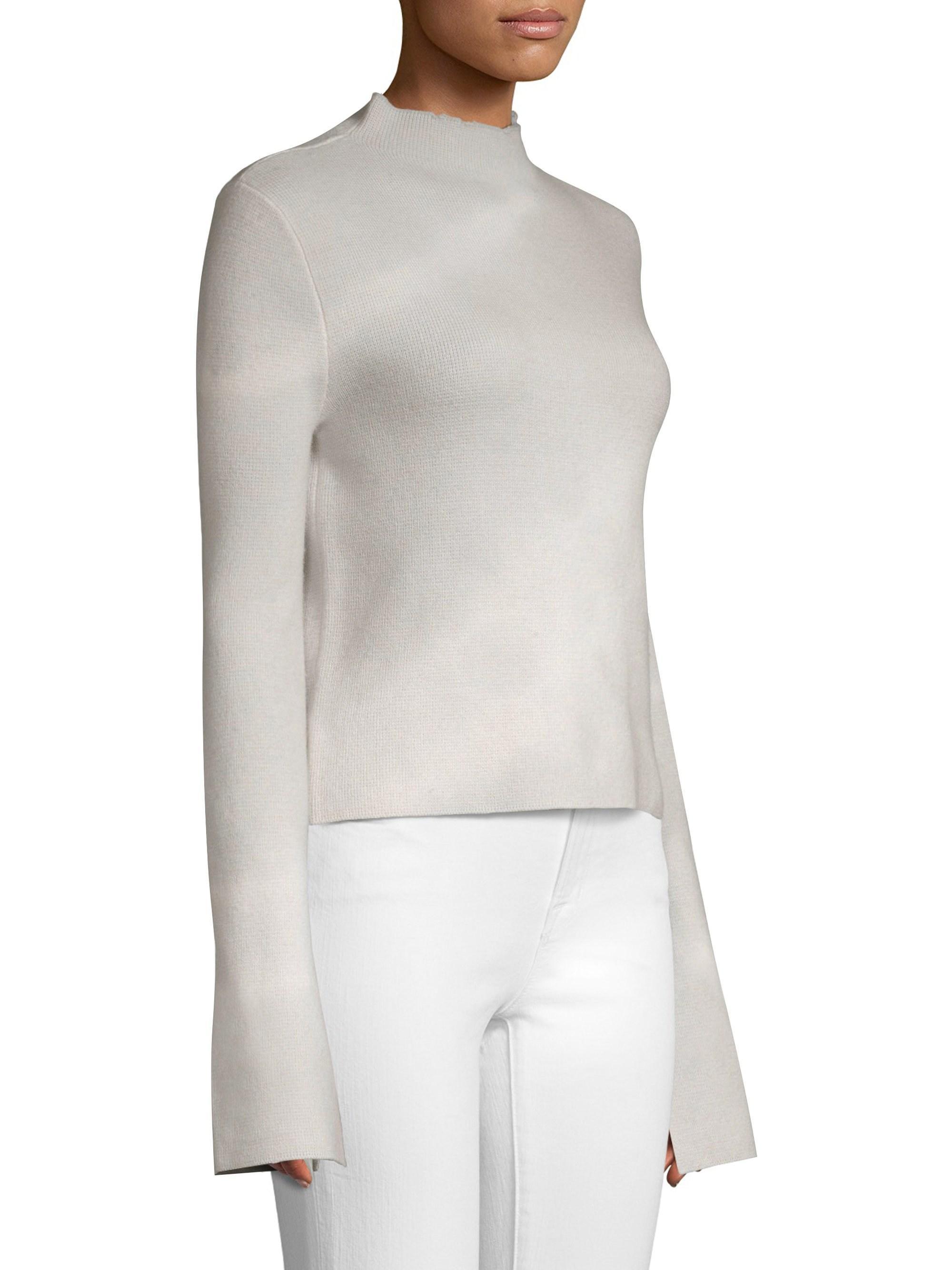 558f2e2a50b1ff Zoe Jordan Women s Munday Cashmere   Wool Funnelneck Sweater - Ash White in  White - Lyst