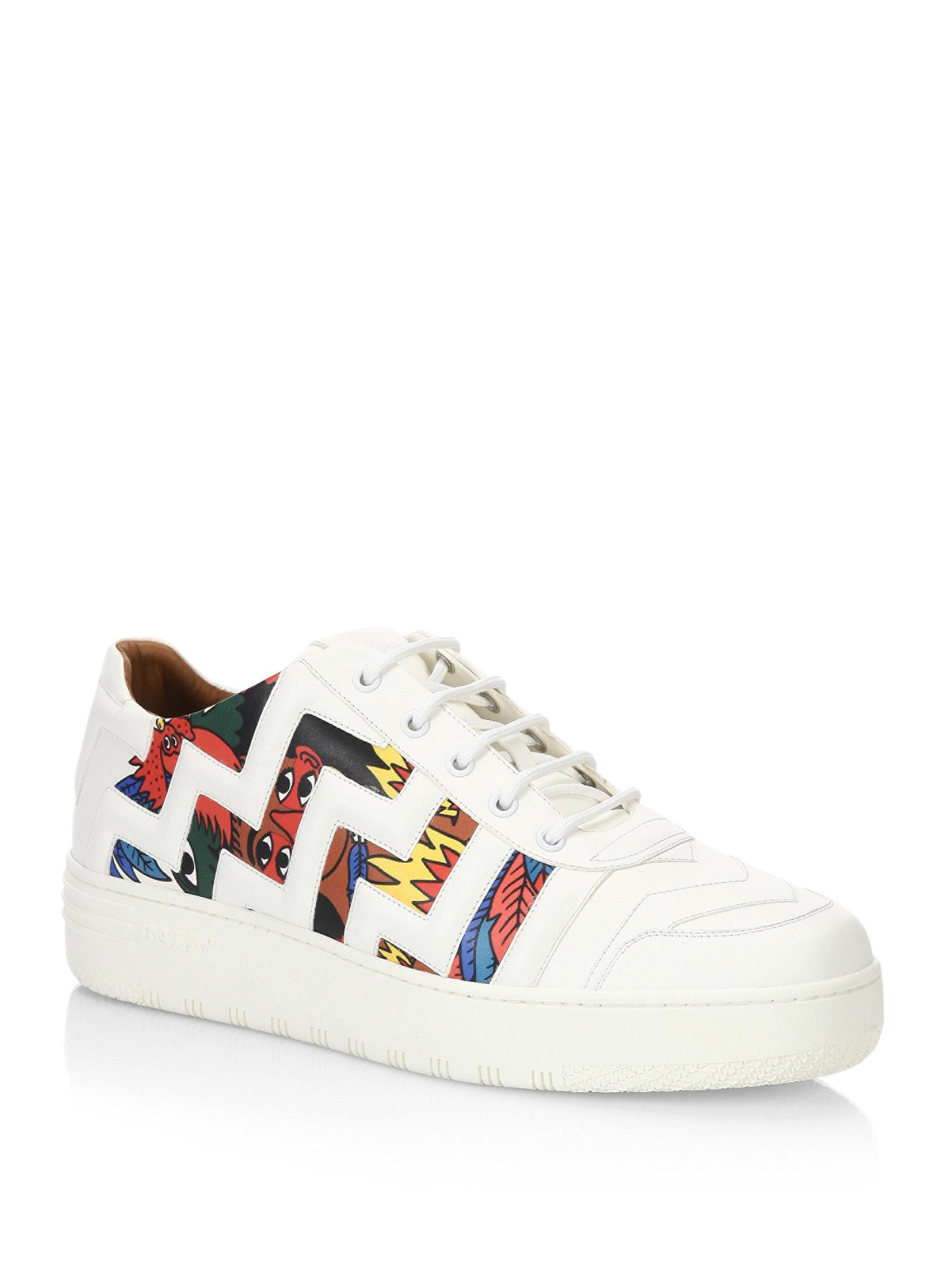 3ad21b4bd95 Lyst - Bally X Swizz Beatz Leather Sneakers in White