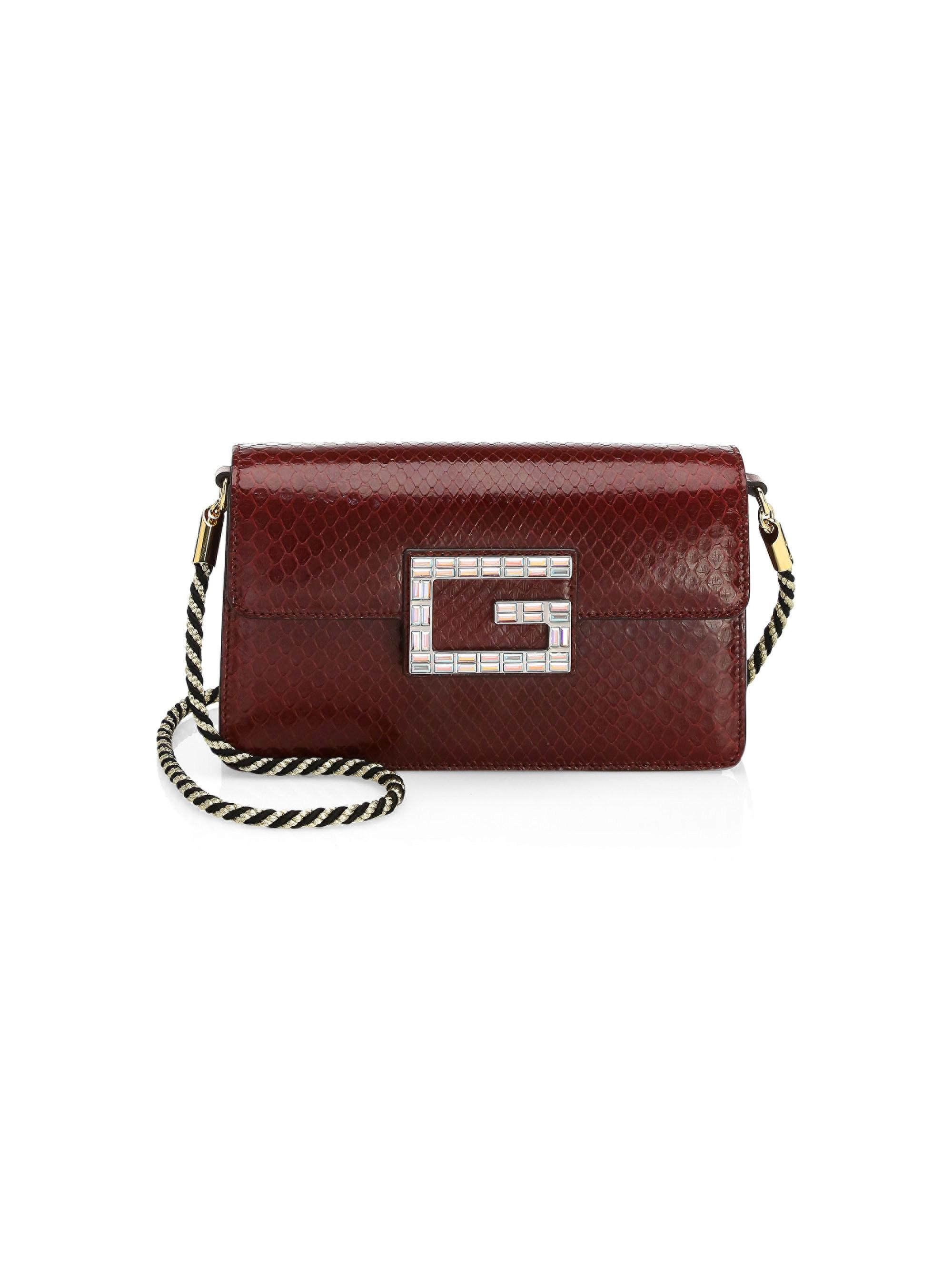 5bfc935b5561 Gucci. Red Women's Small Broadway Python Shoulder Bag - Black. $1,980 From Saks  Fifth Avenue