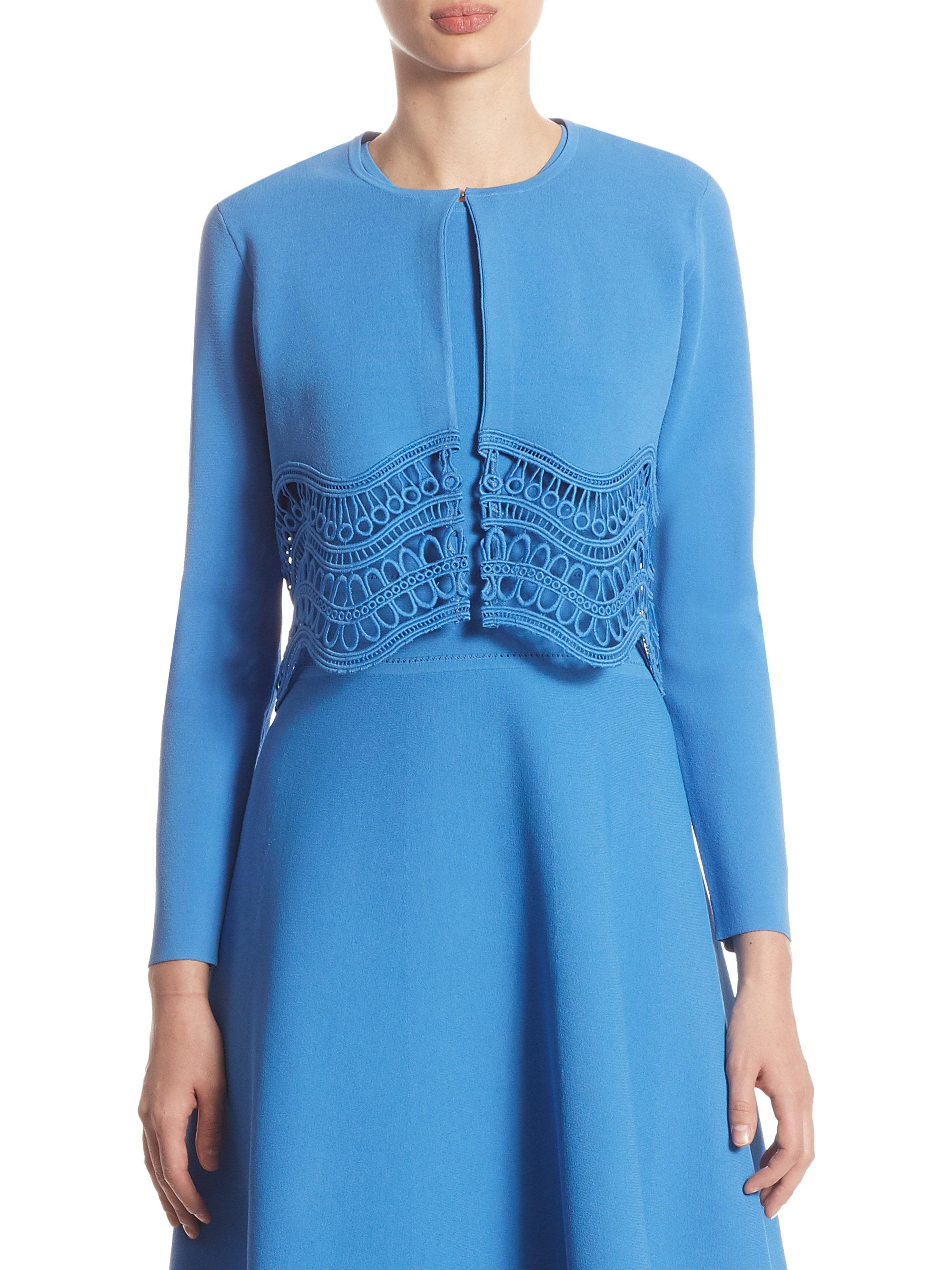 Lela Rose Woman Off-the-shoulder Guipure Lace Top Cobalt Blue Size 10 Lela Rose Free Shipping Shop Clearance The Cheapest Clearance Best Place Order Cheap Price VEvZx