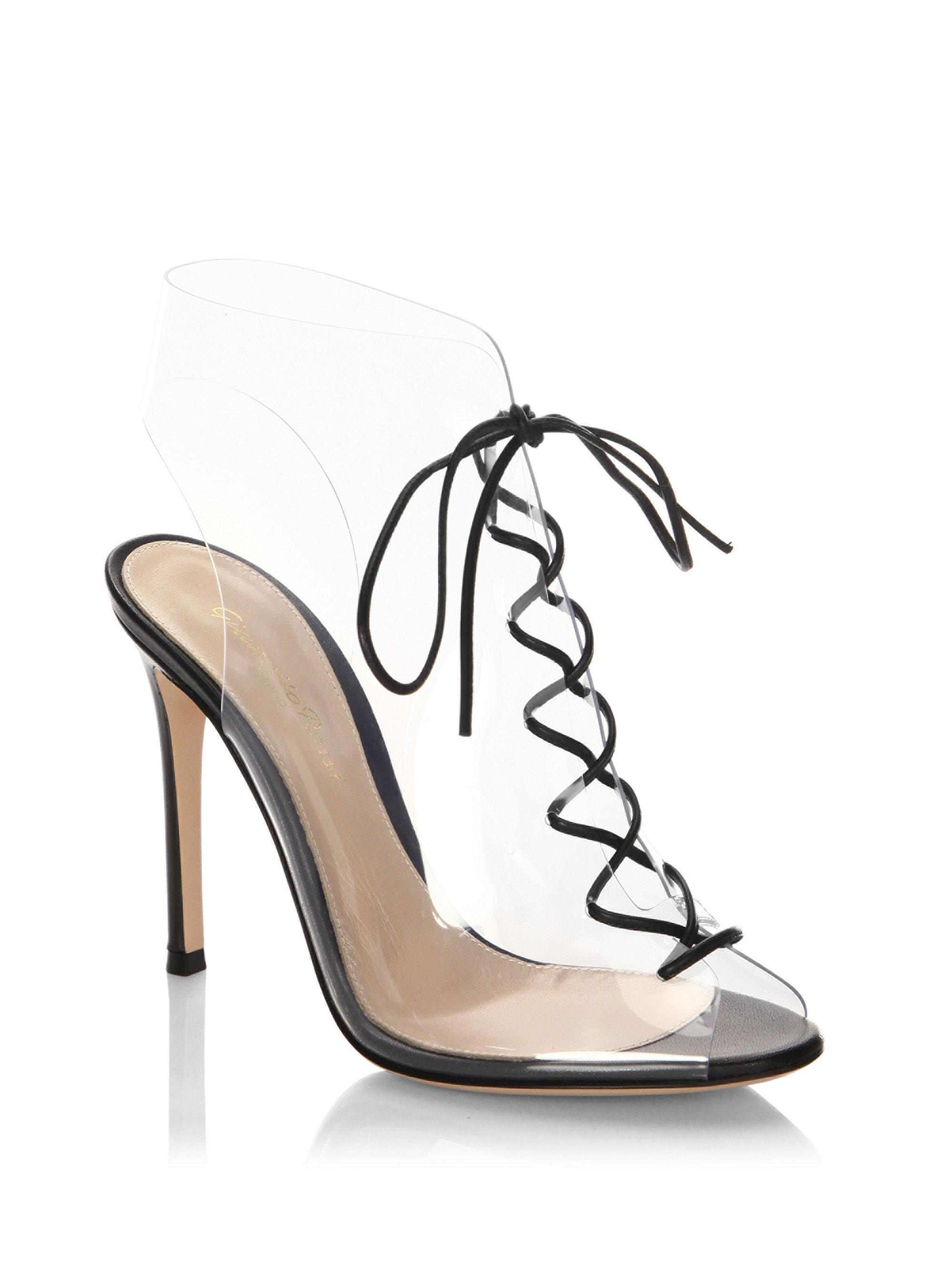 discount view clearance amazing price Gianvito Rossi Woven Lace-Up Sandals K30F5