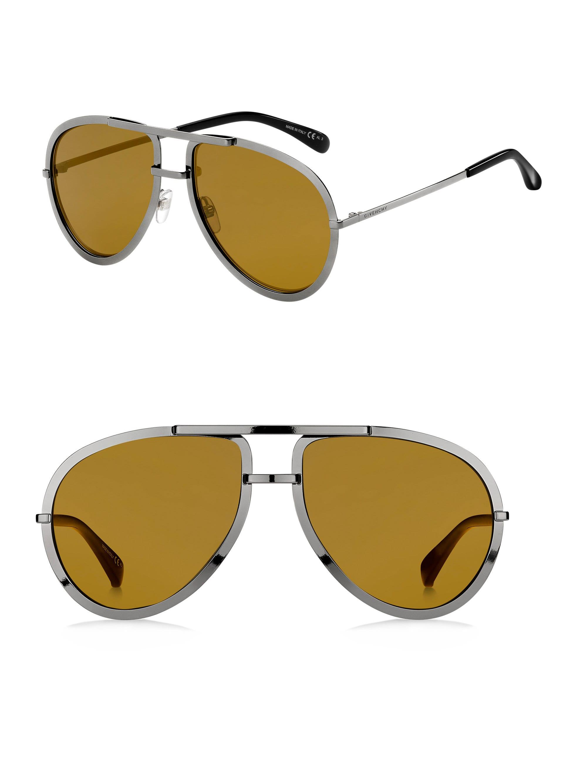 dd3c36c6a25 Givenchy - Metallic Men s 60mm Aviator Sunglasses - Gold for Men - Lyst.  View fullscreen