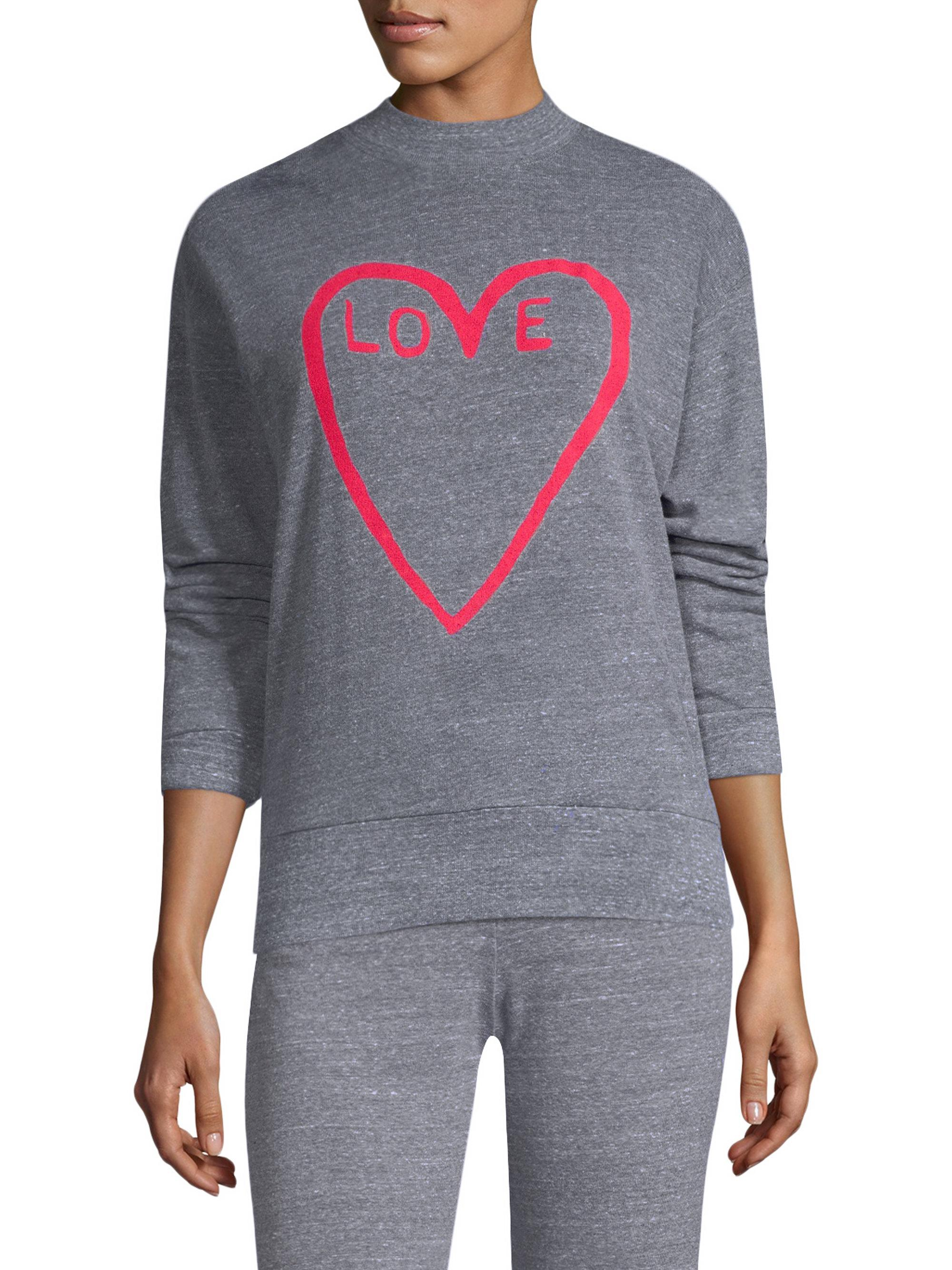 8d189b22144 Monrow Love Crewneck Sweatshirt in Gray - Lyst