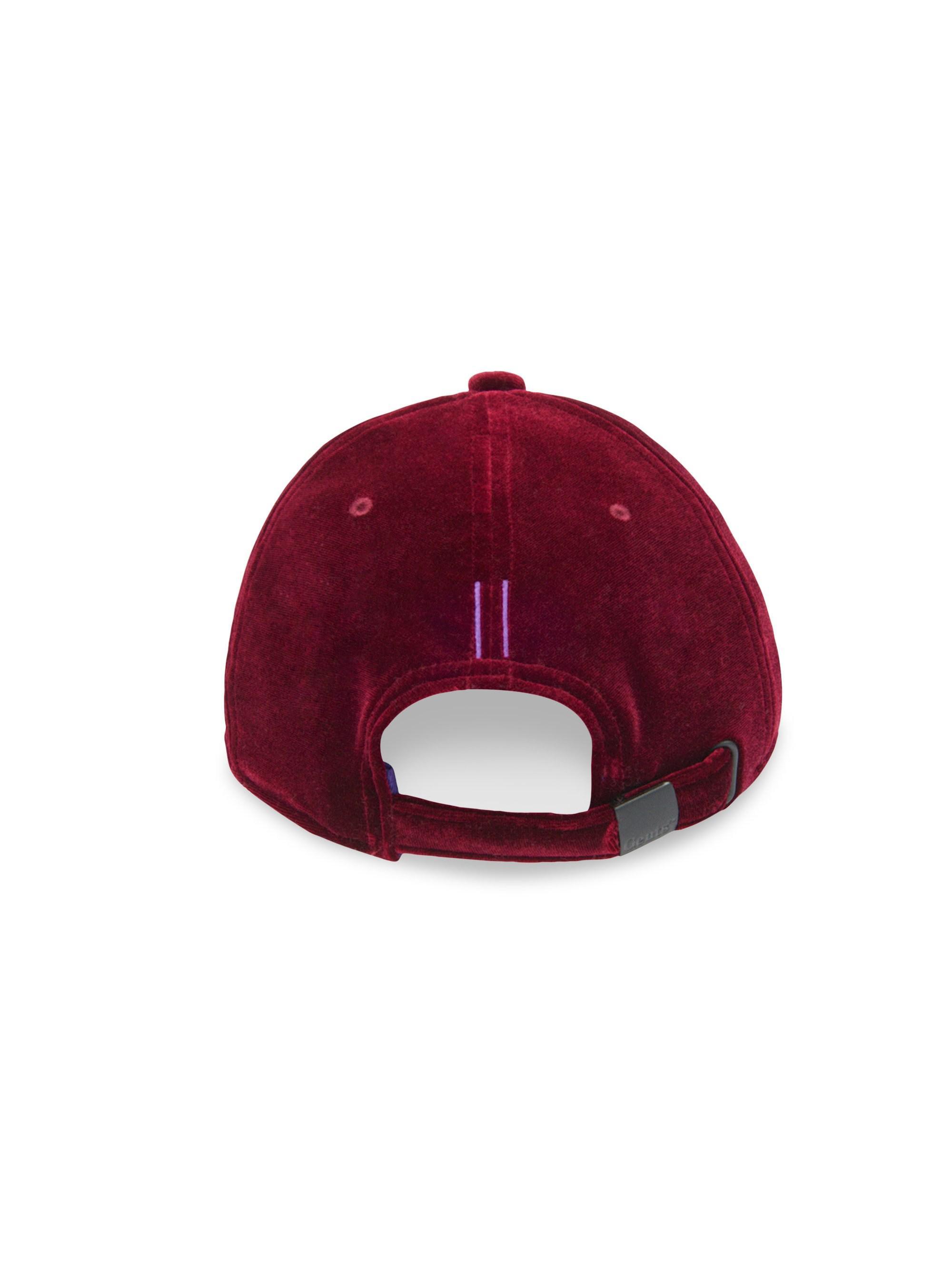 2960457fef4 ... Executive Velvet Baseball Cap - Red for Men - Lyst. View fullscreen