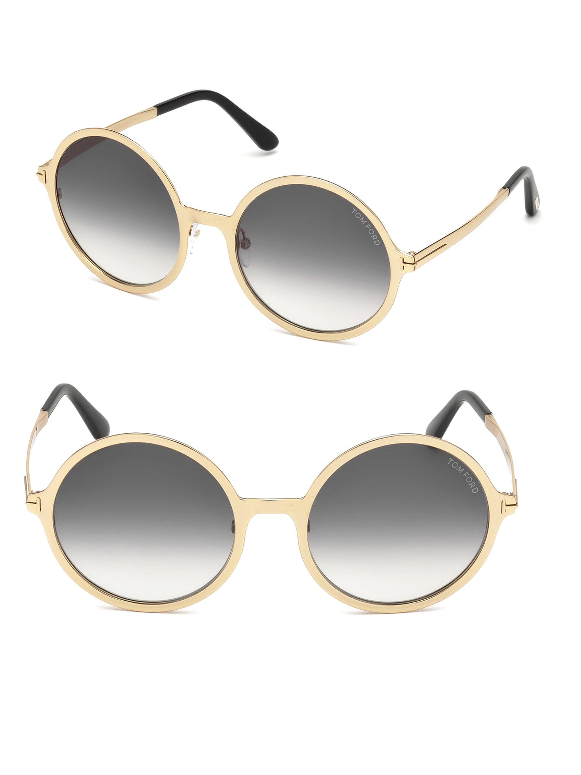 009302e1f4d Tom Ford Ava Round Sunglasses - Lyst