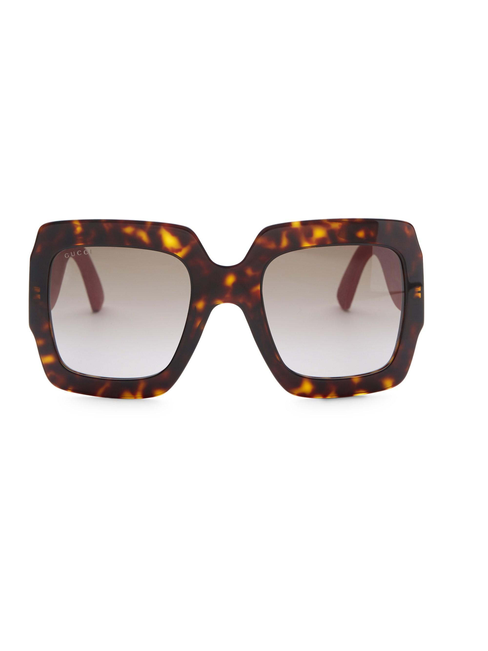 154cc30d08c8 Gucci - Multicolor 54mm Glitter-detail Square Sunglasses - Lyst. View  fullscreen