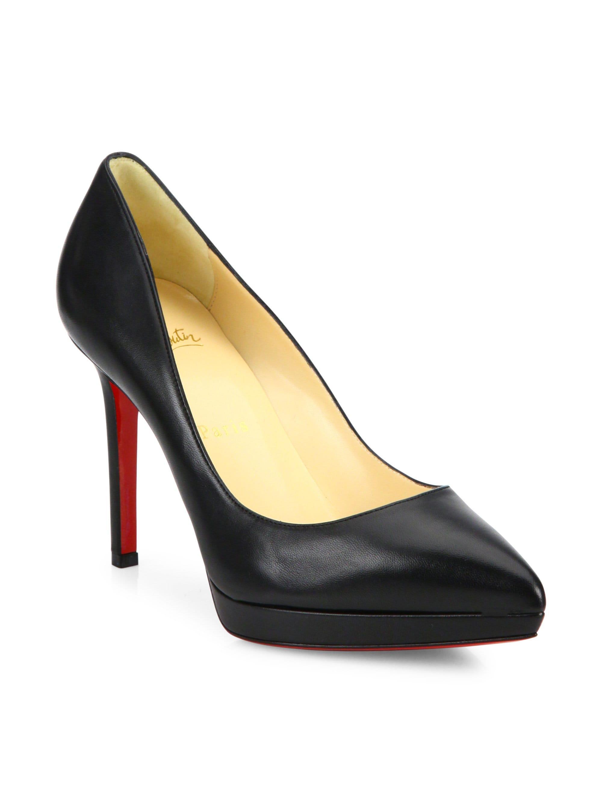 1e932e7d0c2b Christian Louboutin. Women s Pigalle Plato 100 Leather Point Toe Platform  Pumps - Black