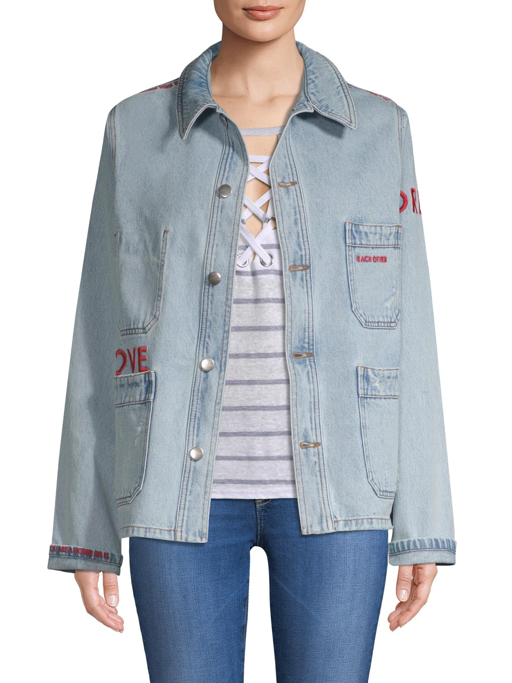 Countdown Package Cheap Online Each X Other ripped effect denim jacket Authentic Sale Lowest Price BsNUyfpl
