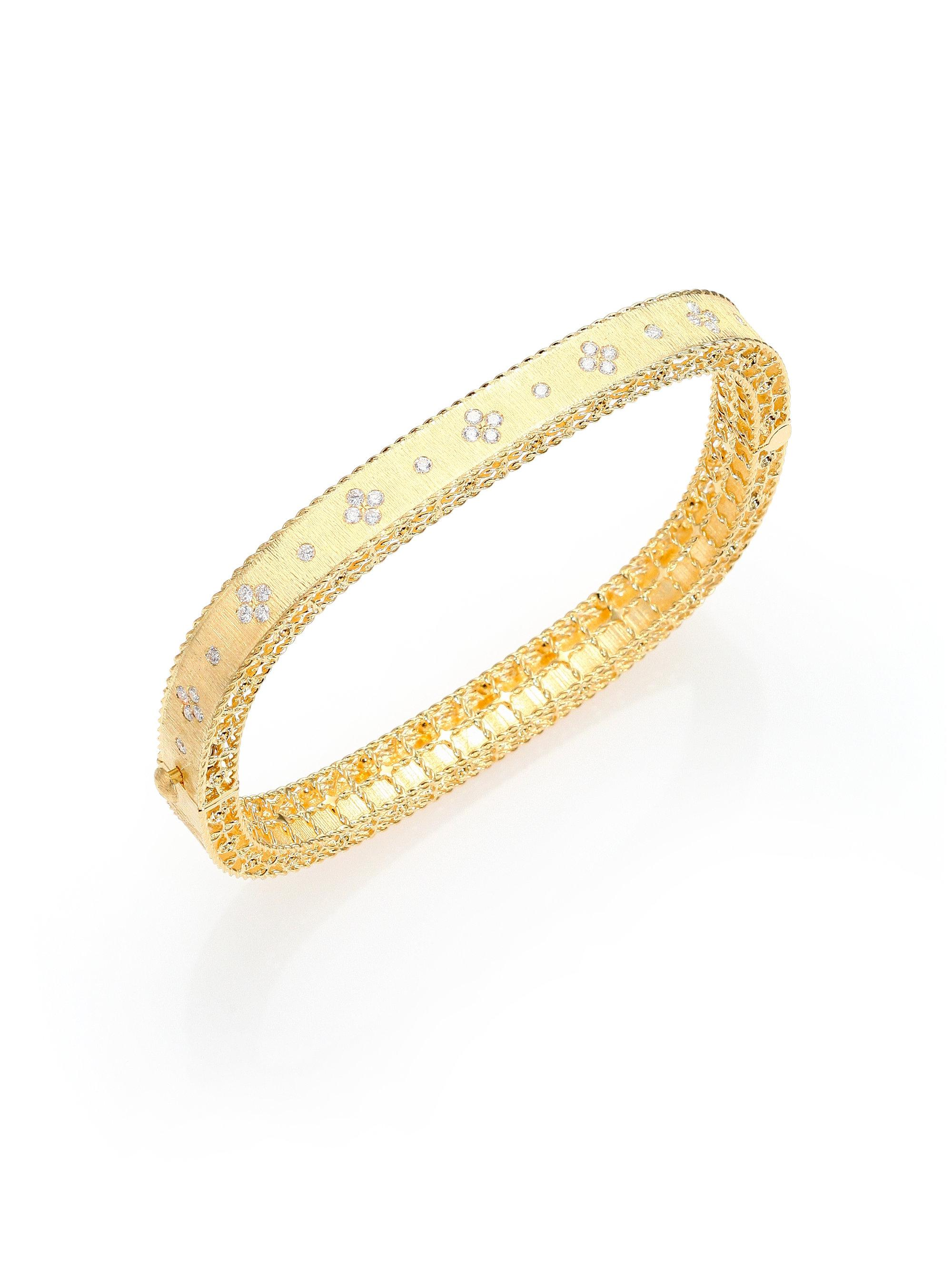 bracelet bracelets women s for bangles womens watches shipping free antique jewelry product diamond bangle rose overstock today gold yellow cut silver