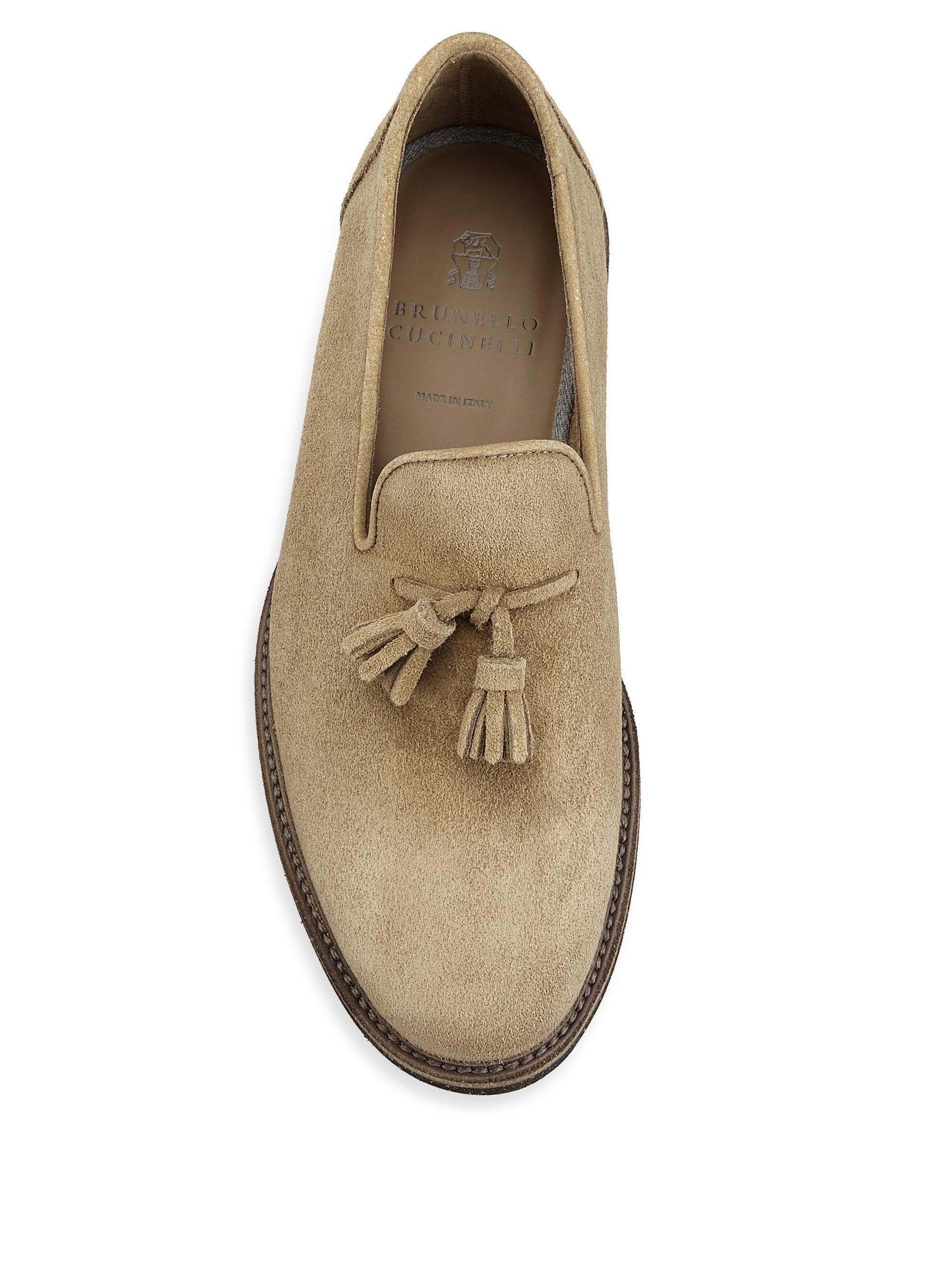 brand new 97017 19e89 brunello-cucinelli-beige-Tassel-Suede-Loafers.jpeg