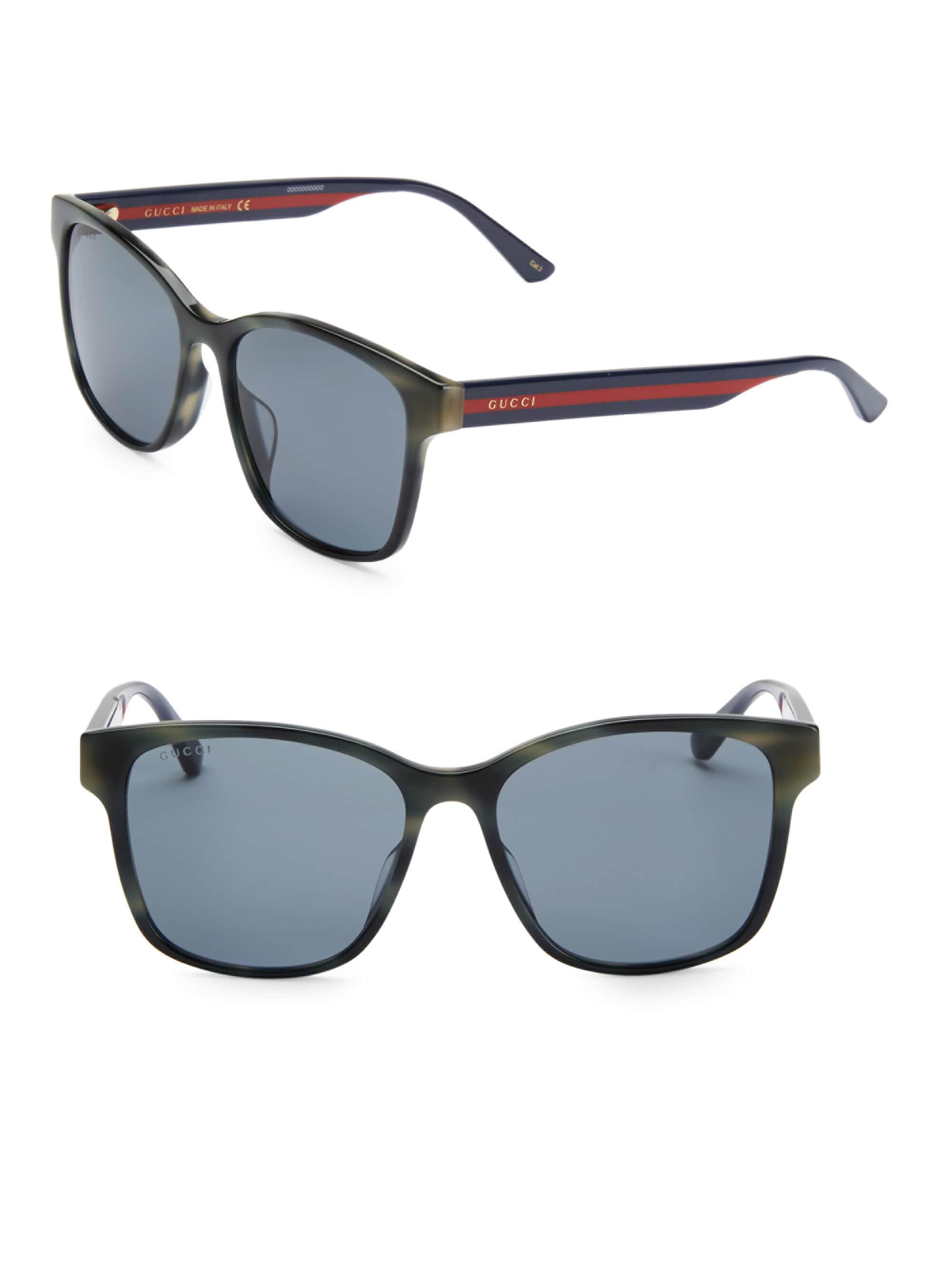 cfe7f568945 Gucci - Gray Men s 56mm Unisex Acetate Sunglasses - Havana for Men - Lyst.  View fullscreen
