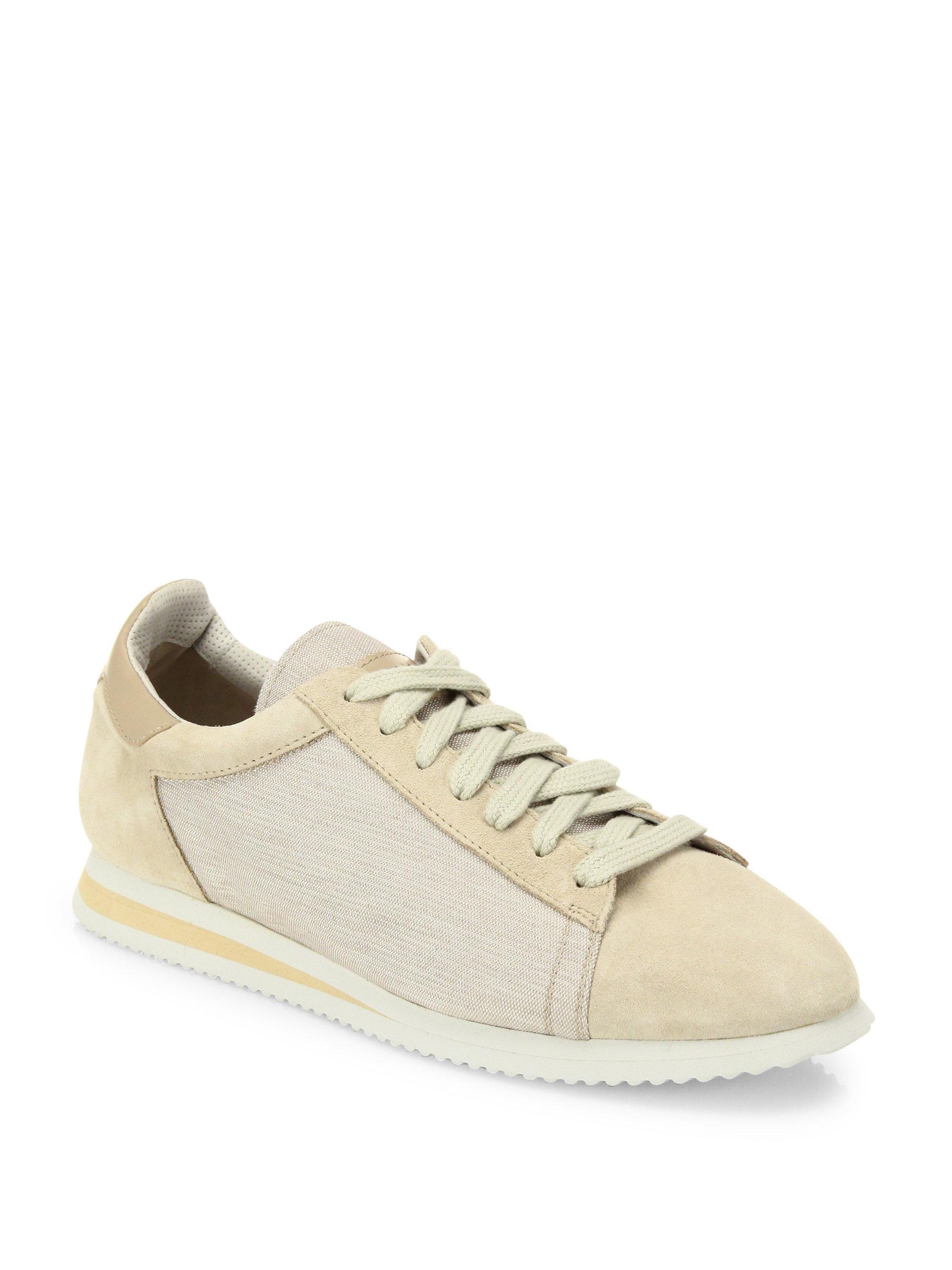 Colorblocked suede sneakers Brunello Cucinelli gZo3qW2