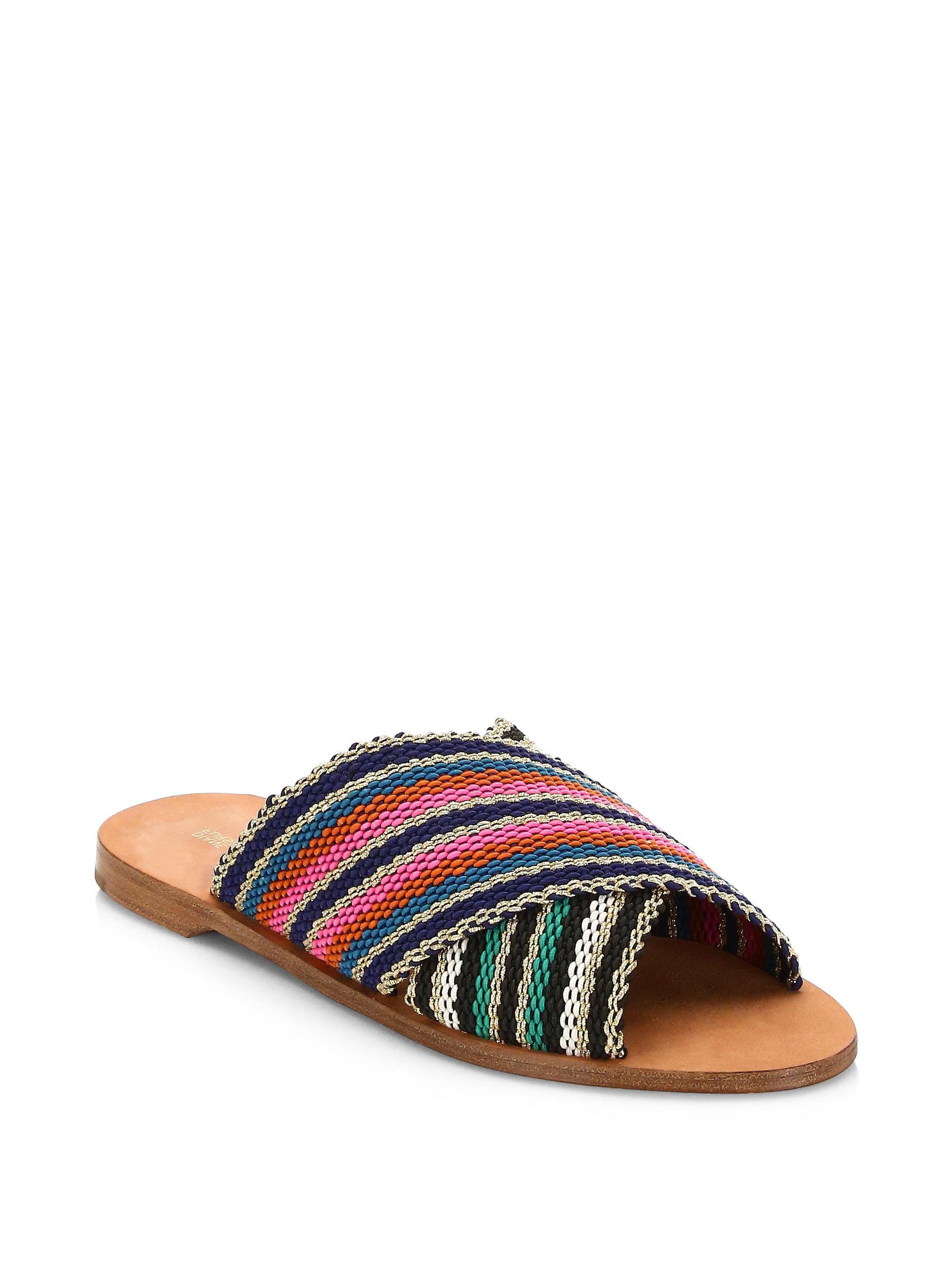 Diane von Furstenberg Cindi Multicolored Patterned Slides biUkaU