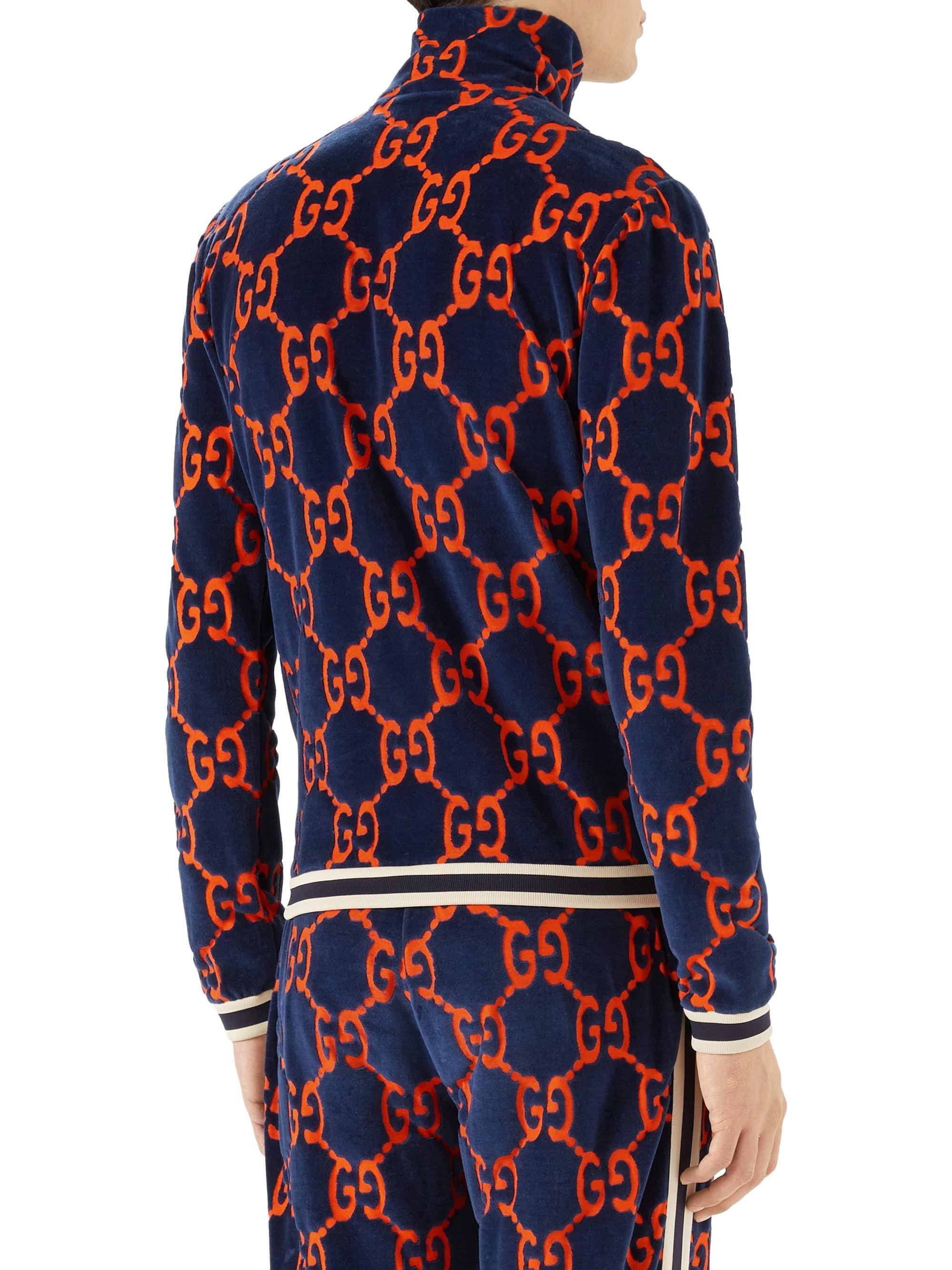 f448a2582 Gucci GG Chenille Jersey Jacket for Men - Lyst