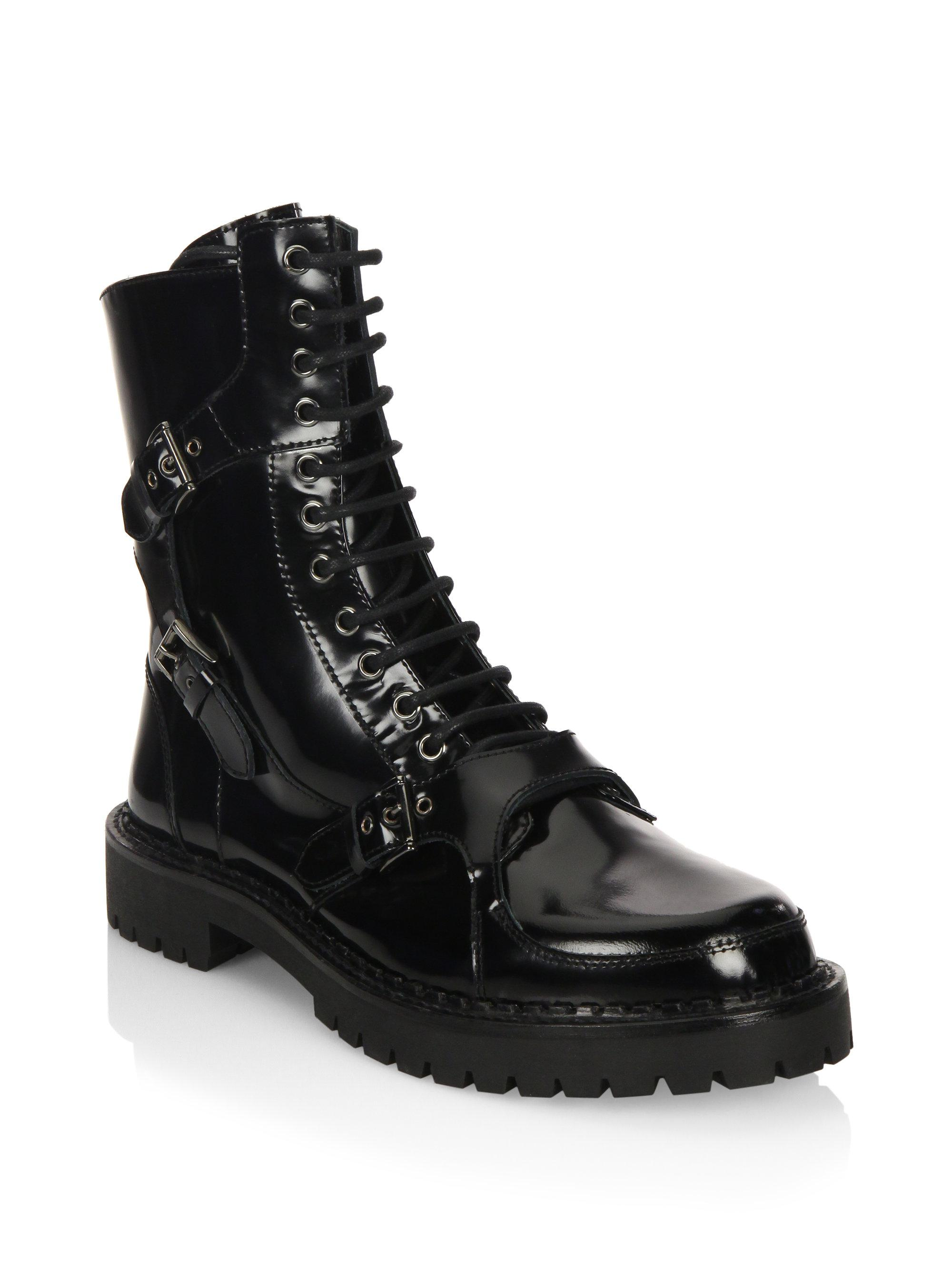 MoschinoLace-Up Leather Boots GIbxvx