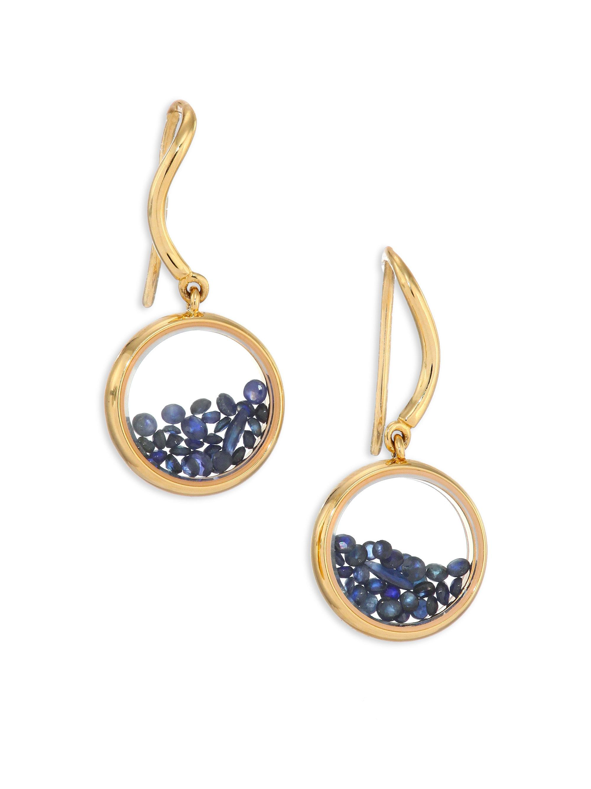 18kt gold & diamond drop earrings Aur O94xyI7