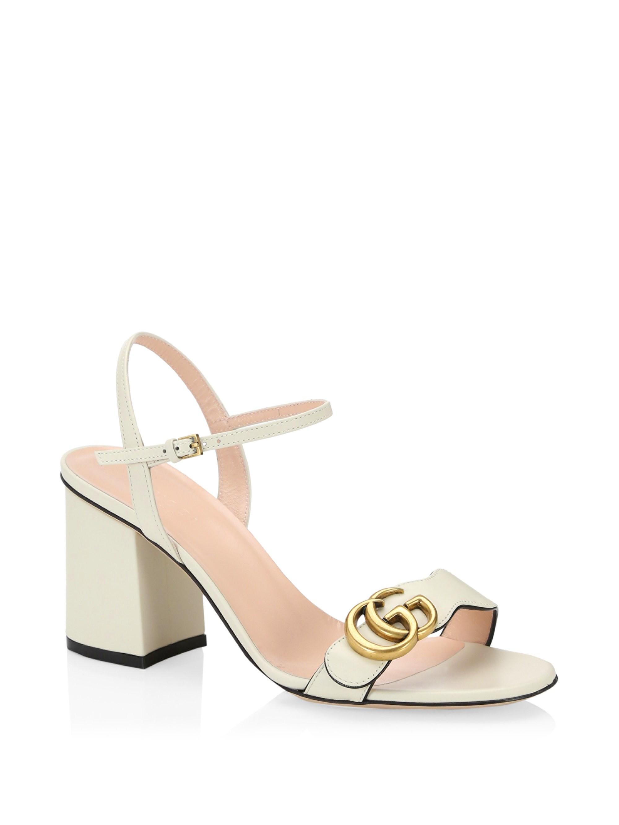 46be2c95844 Lyst - Gucci Marmont GG Ankle-strap Sandals