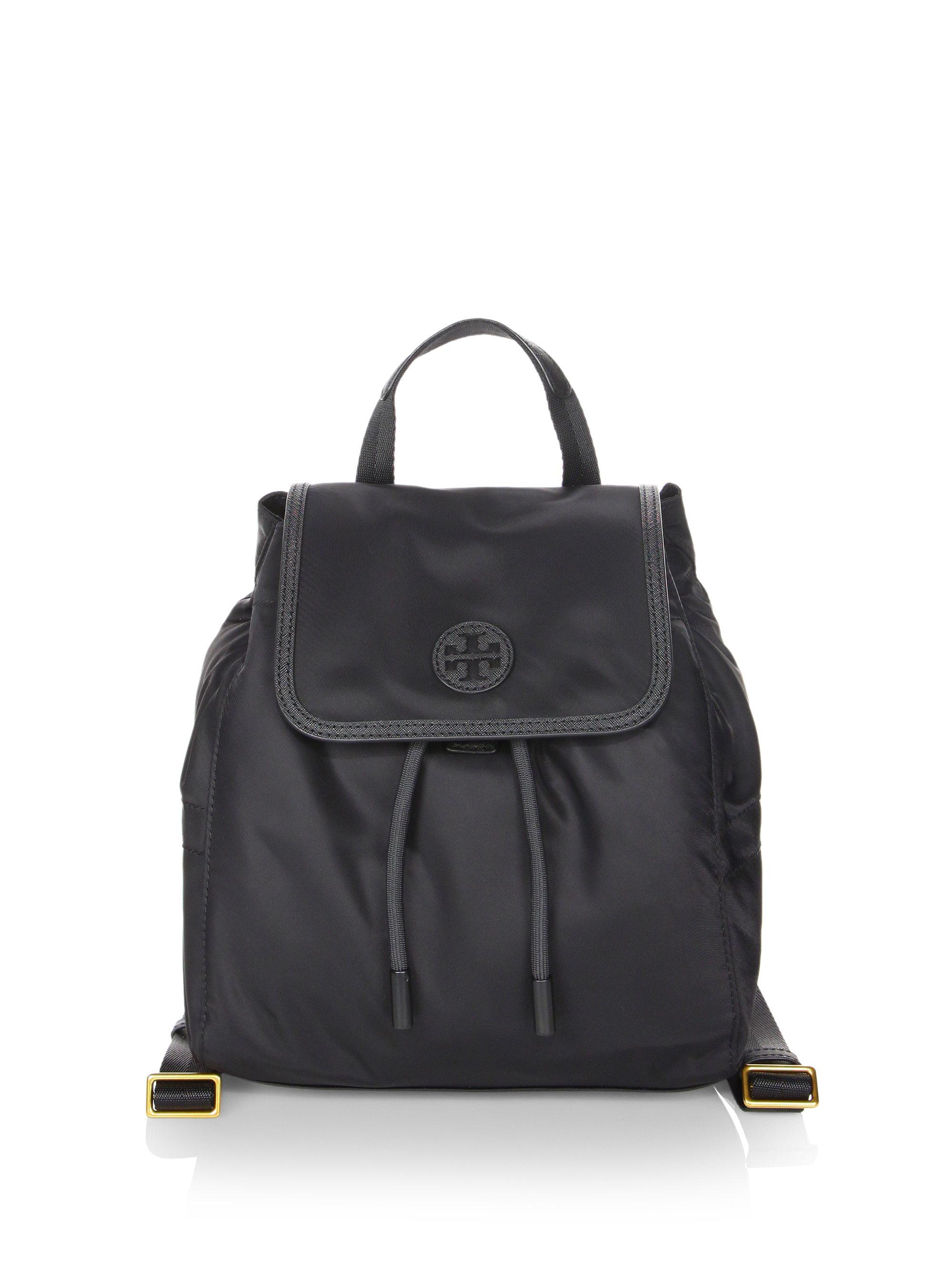 01bef7bf090 Lyst - Tory Burch Scout Nylon Small Backpack in Black