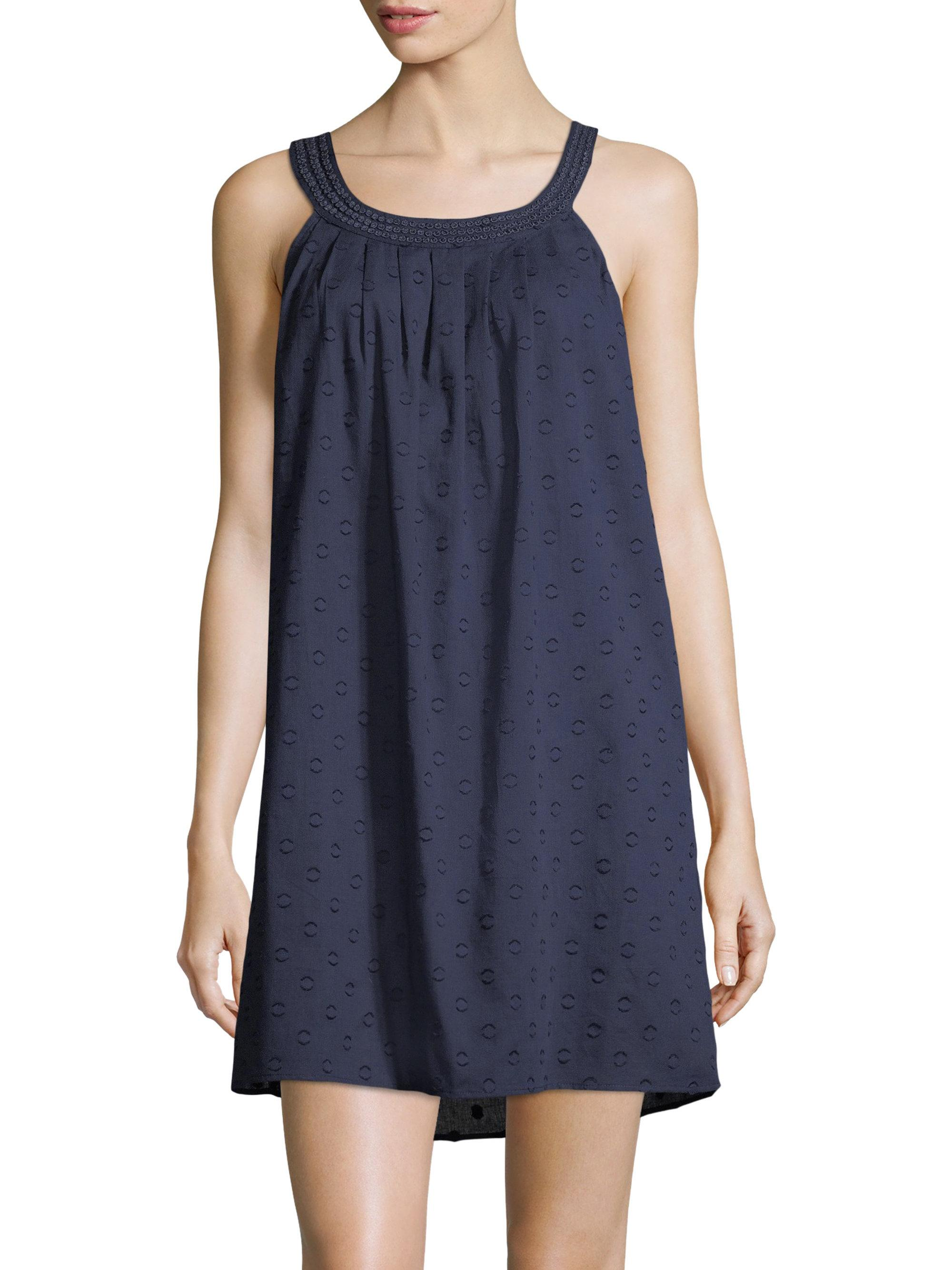 Lyst - Saks Fifth Avenue Collection Cotton Dot Chemise in Blue