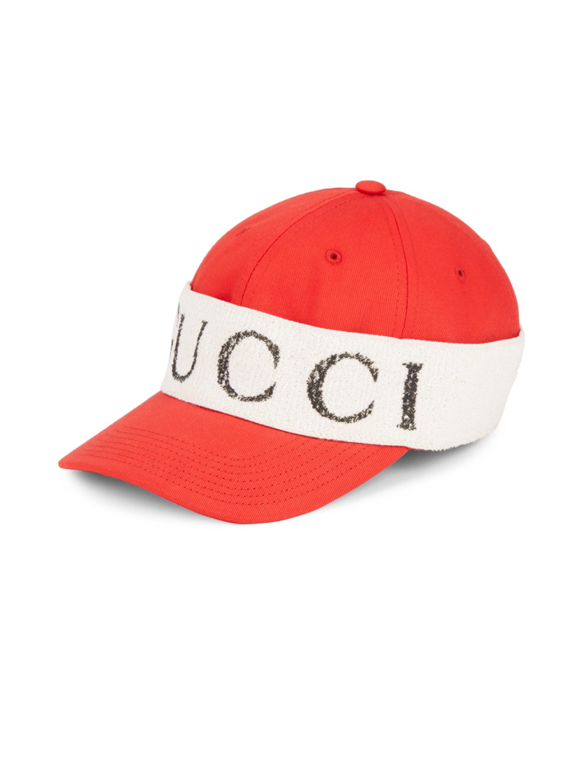171b28a3b25 Lyst - Gucci Men s Wrap Baseball Cap - Black White - Size Small in ...